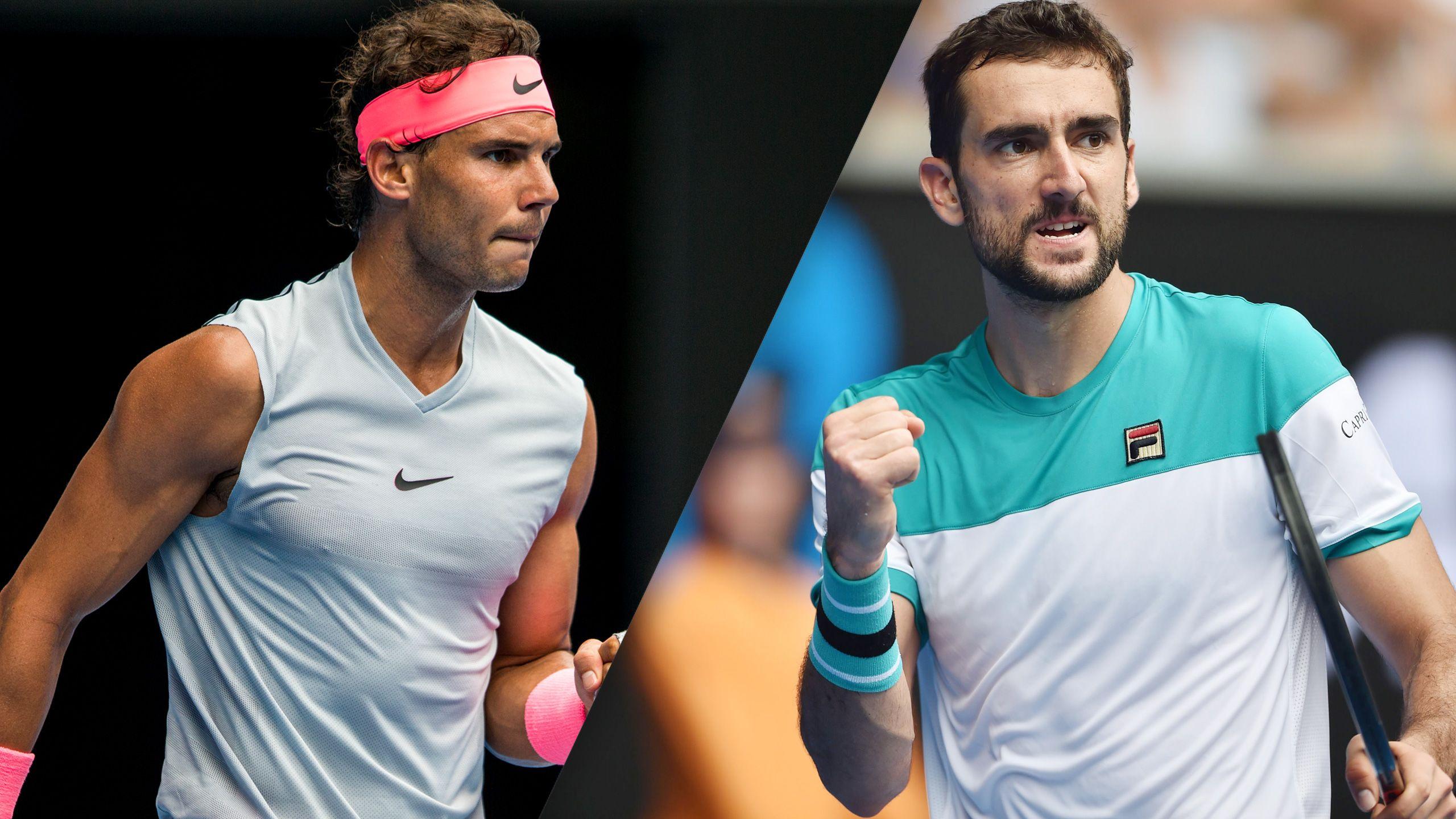 (1) Nadal vs. (6) Cilic (Men's Quarterfinals)