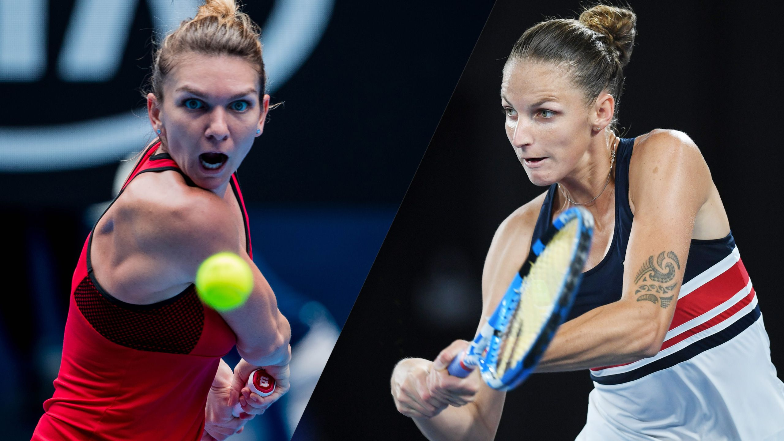 (1) Halep vs. (6) Pliskova (Women's Quarterfinals)
