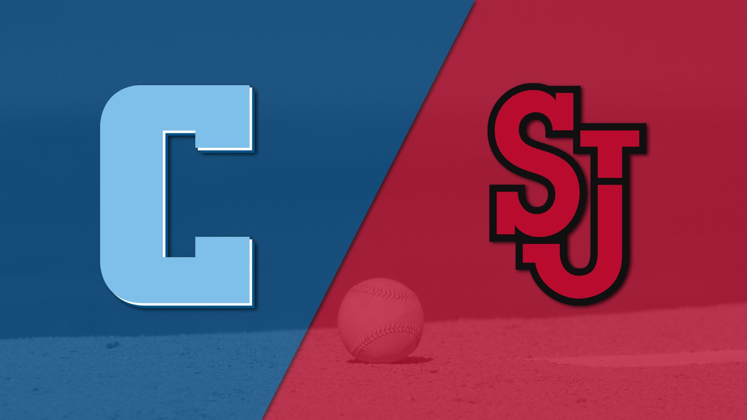 Columbia vs. #12 St. John's (Baseball)