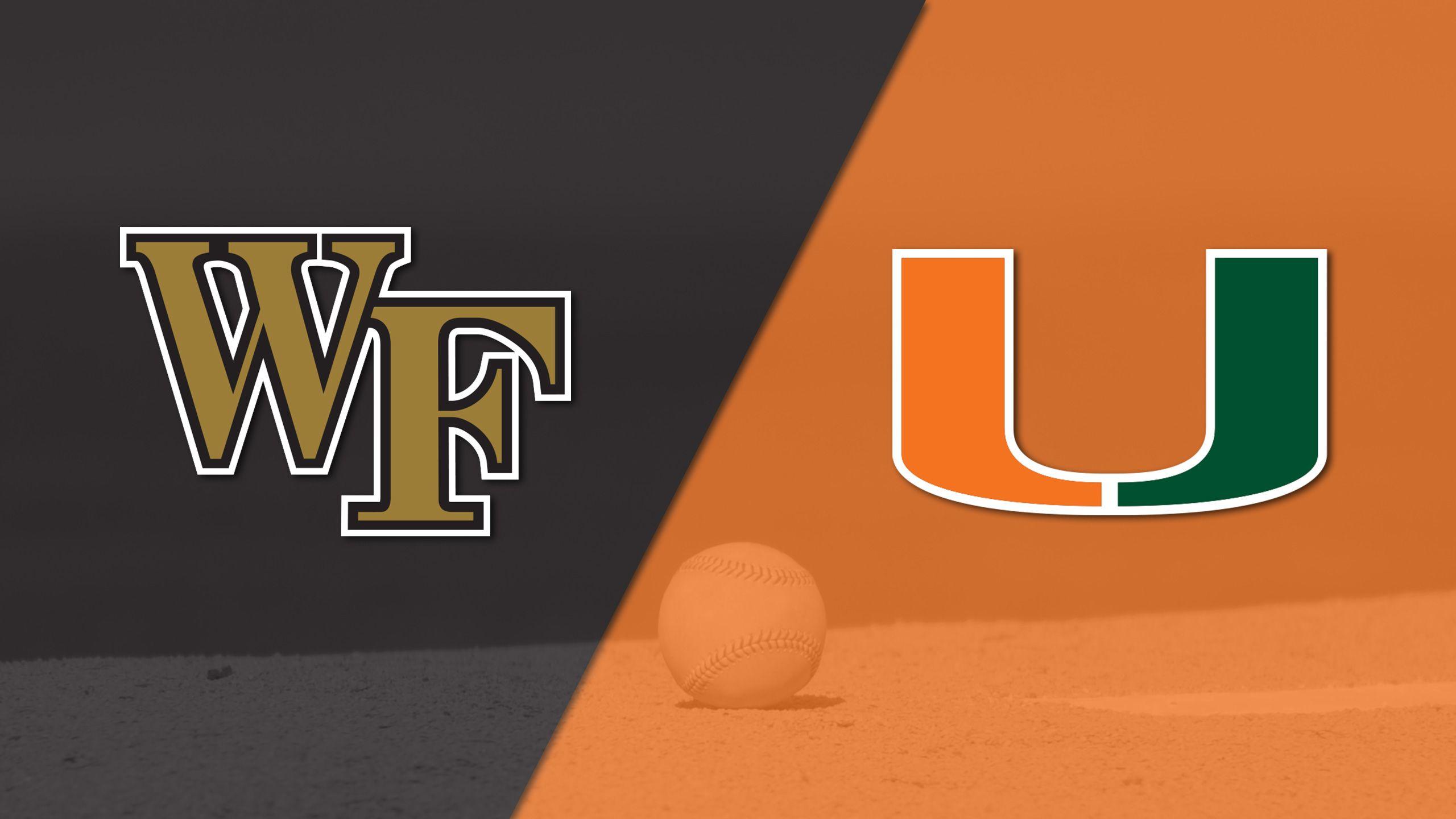 Wake Forest vs. Miami (Baseball)