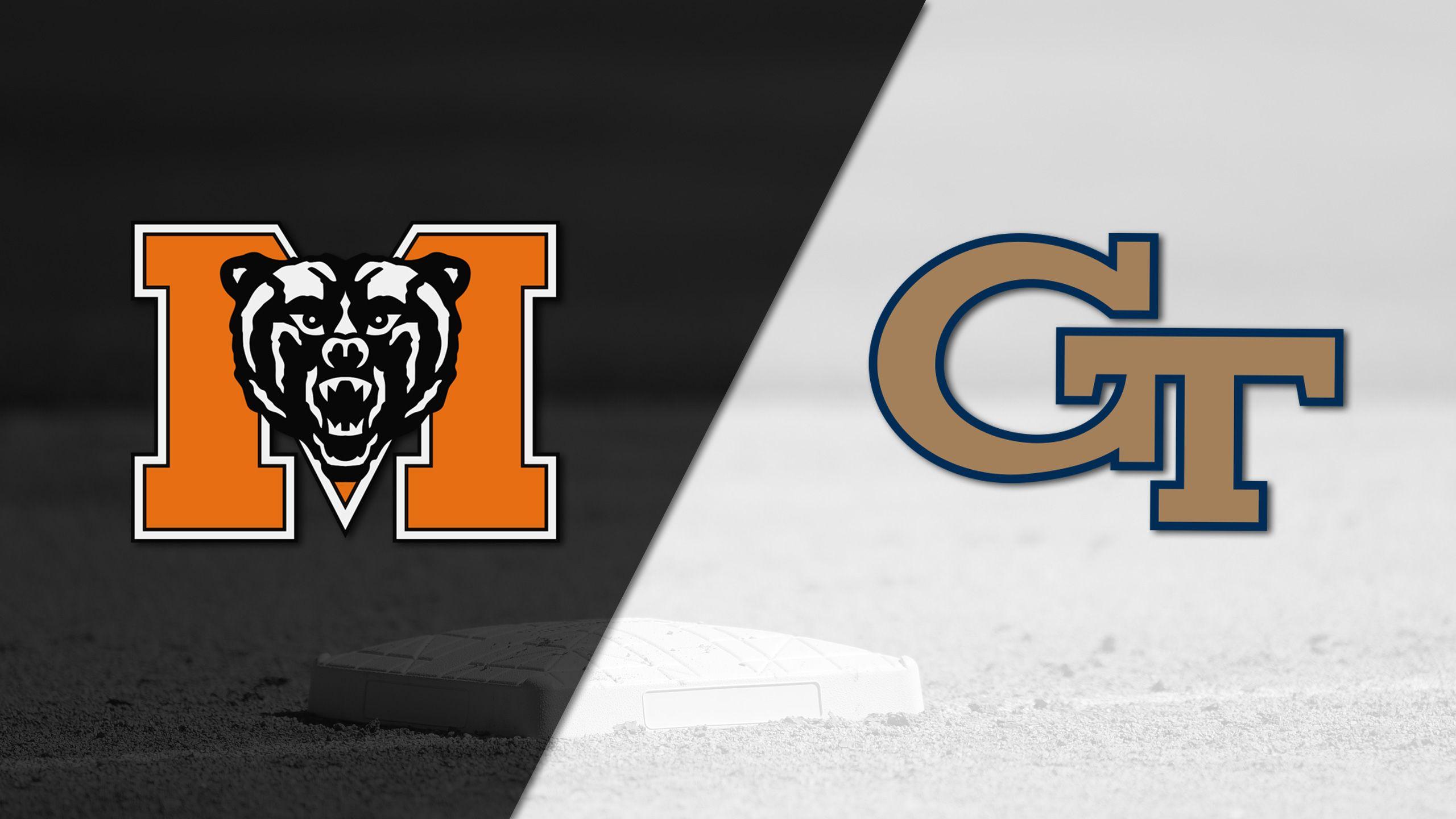 Mercer vs. Georgia Tech (Baseball)