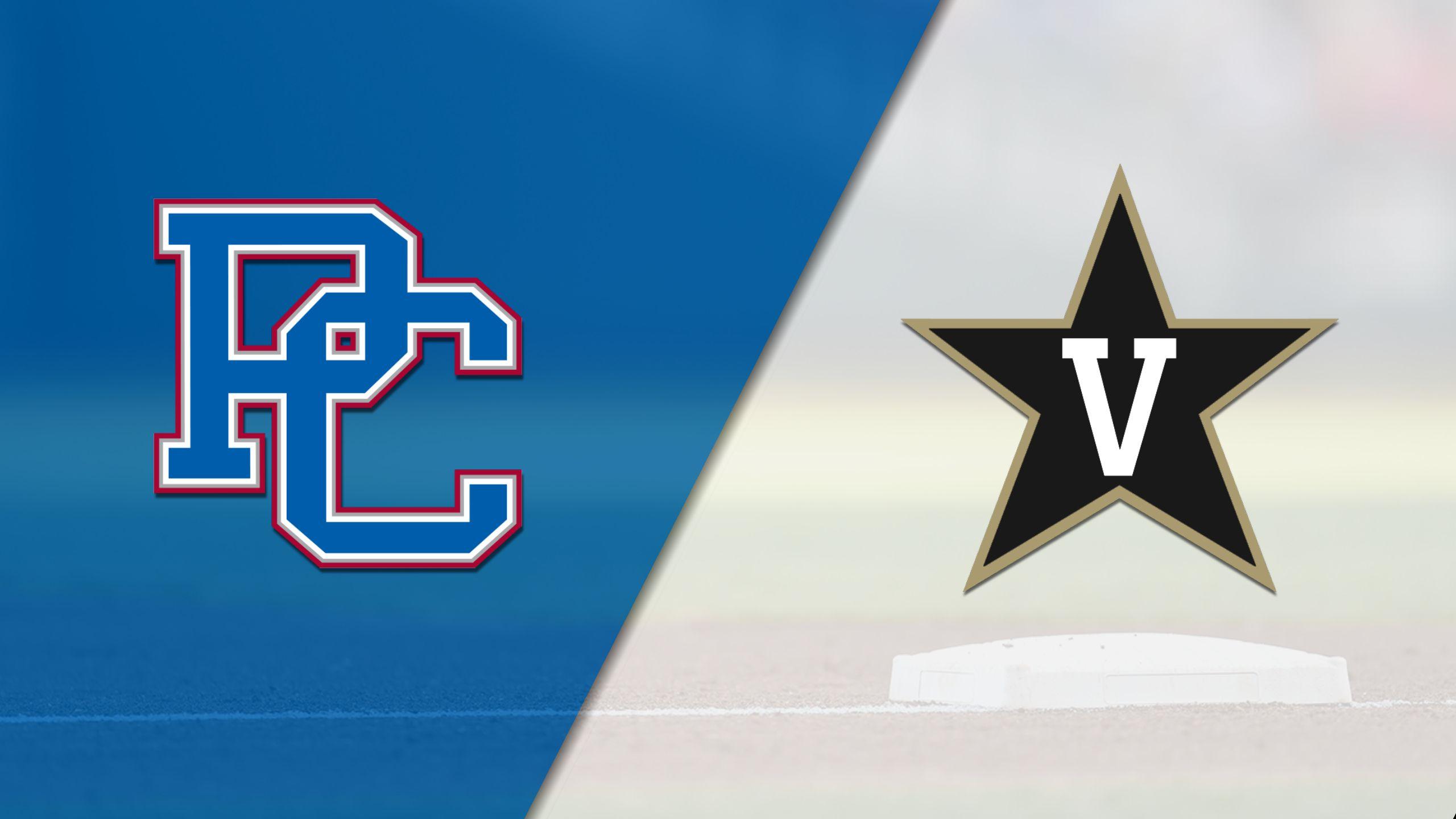 Presbyterian vs. #10 Vanderbilt (Baseball)