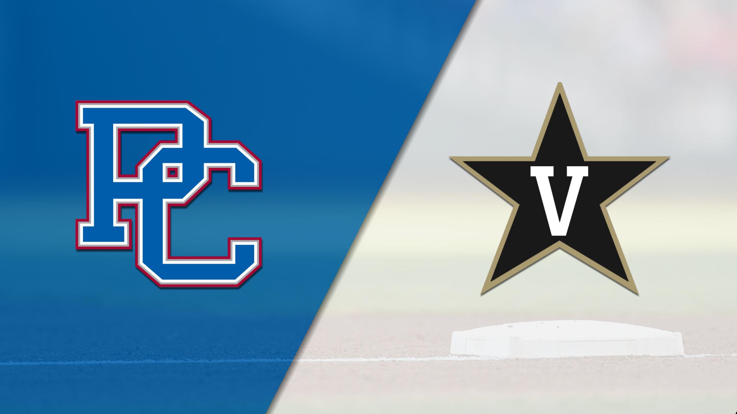 Presbyterian vs. Vanderbilt (Baseball)