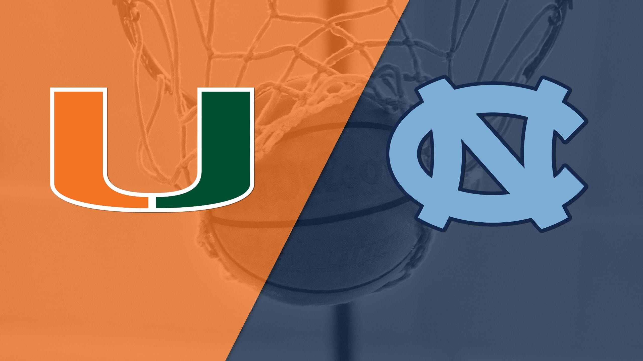 Miami vs. North Carolina (M Basketball) (re-air)
