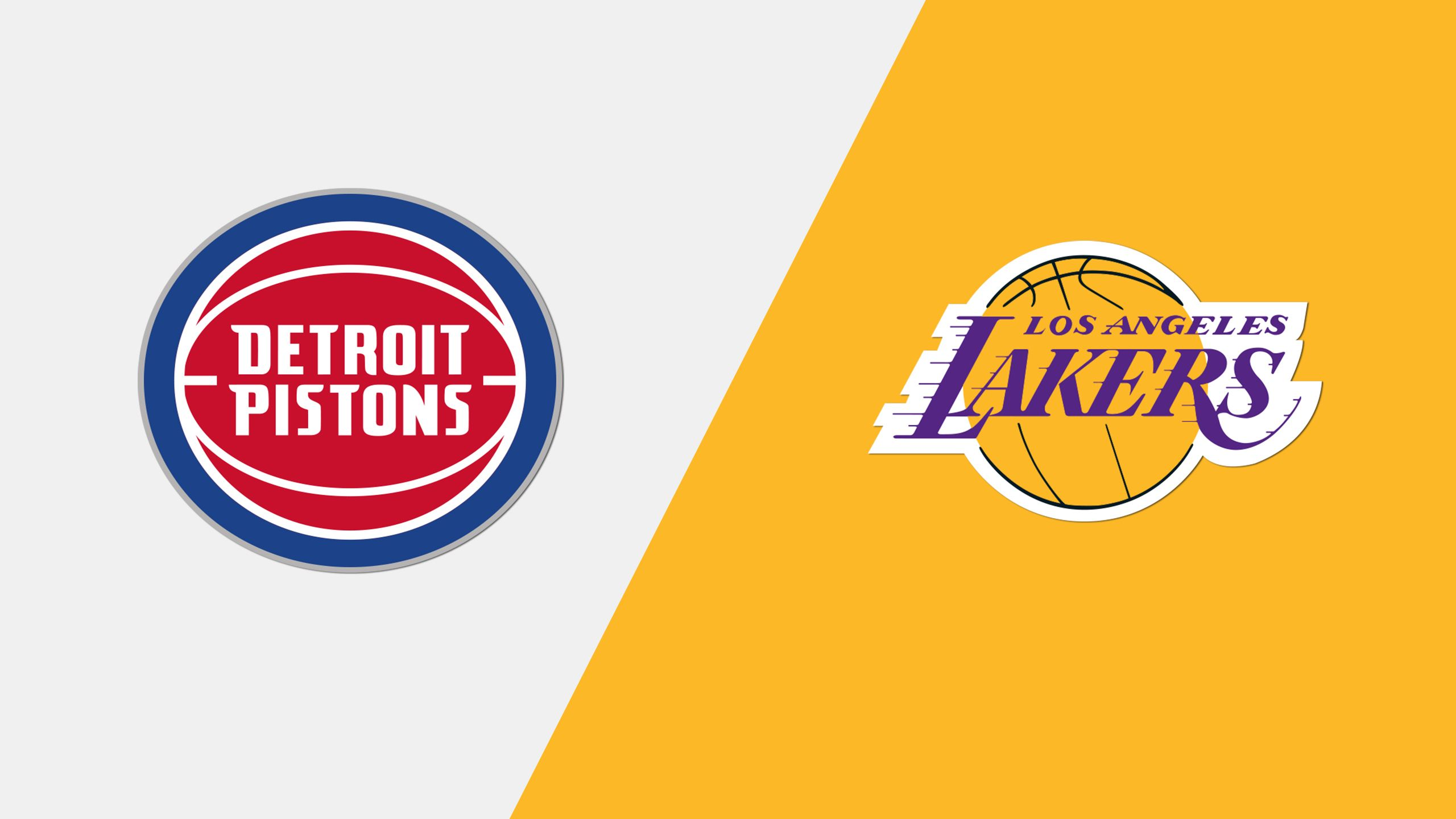 Detroit Pistons vs. Los Angeles Lakers (Quarterfinal)