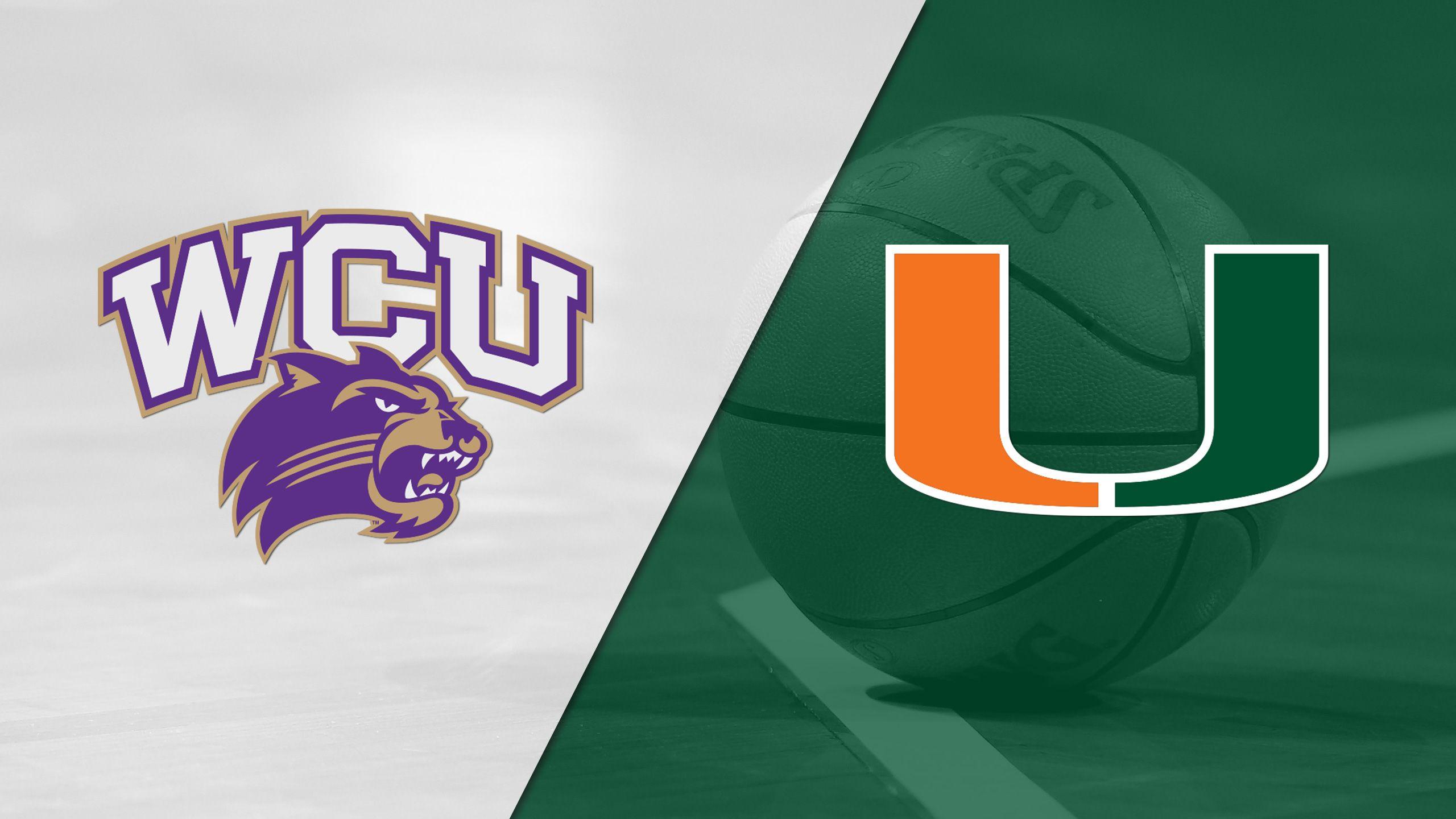 Western Carolina vs. Miami (M Basketball)