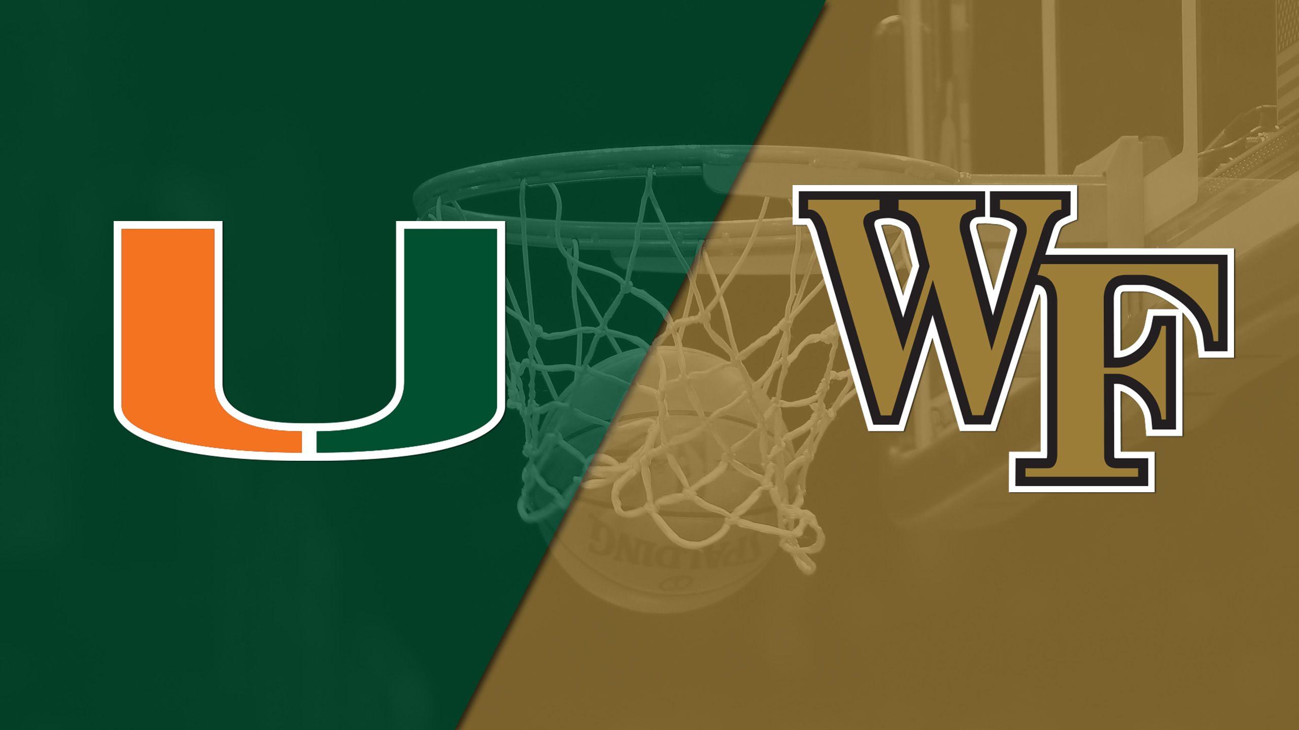 Miami vs. Wake Forest (M Basketball)