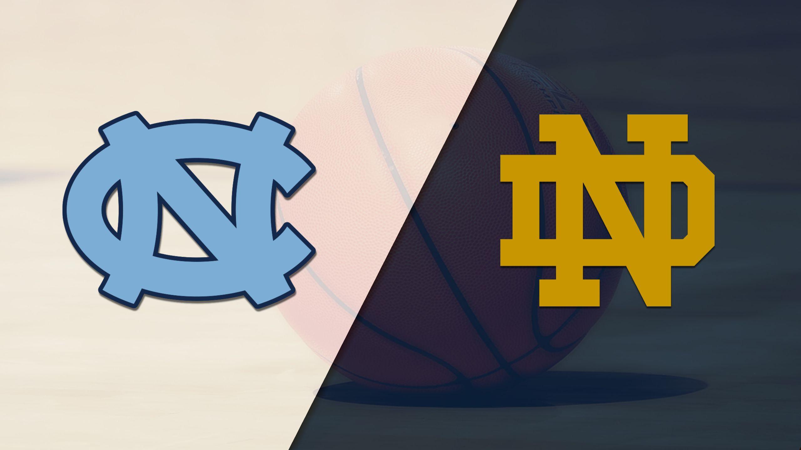 #20 North Carolina vs. Notre Dame (M Basketball)