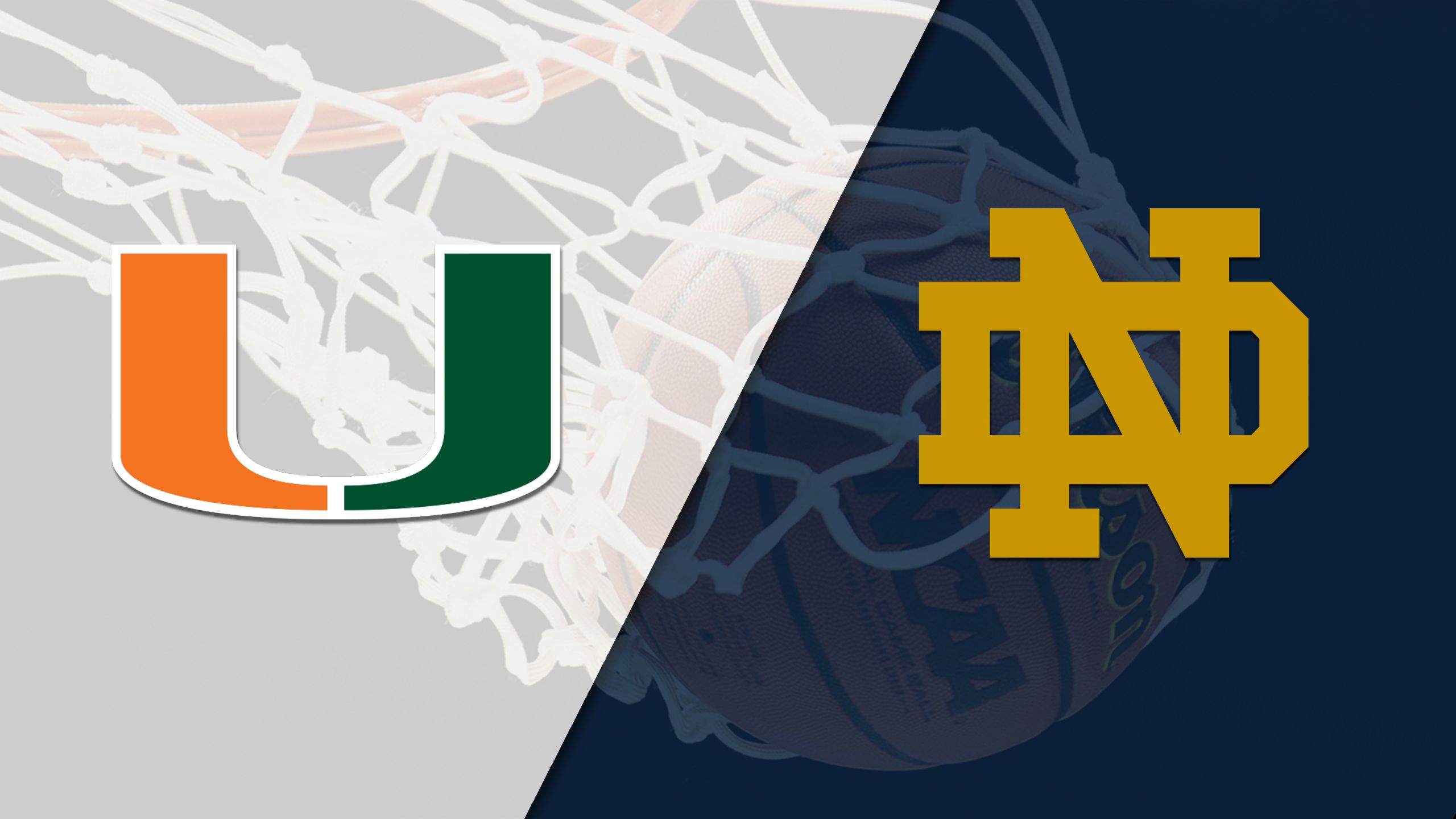 Miami vs. Notre Dame (M Basketball) (re-air)