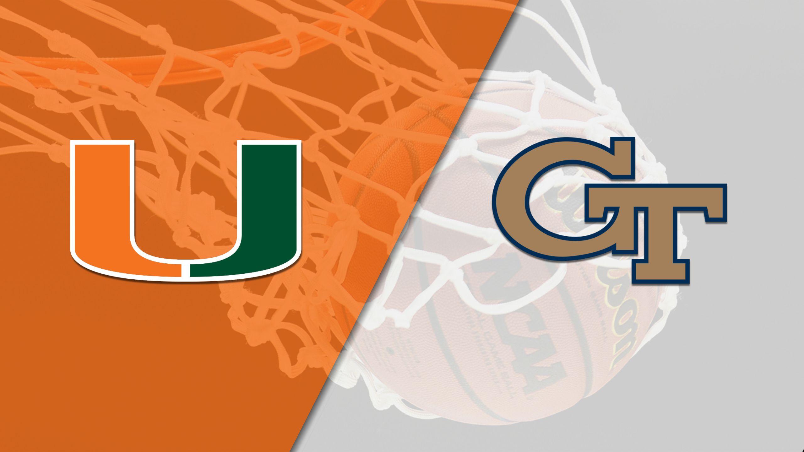 #15 Miami vs. Georgia Tech (M Basketball)