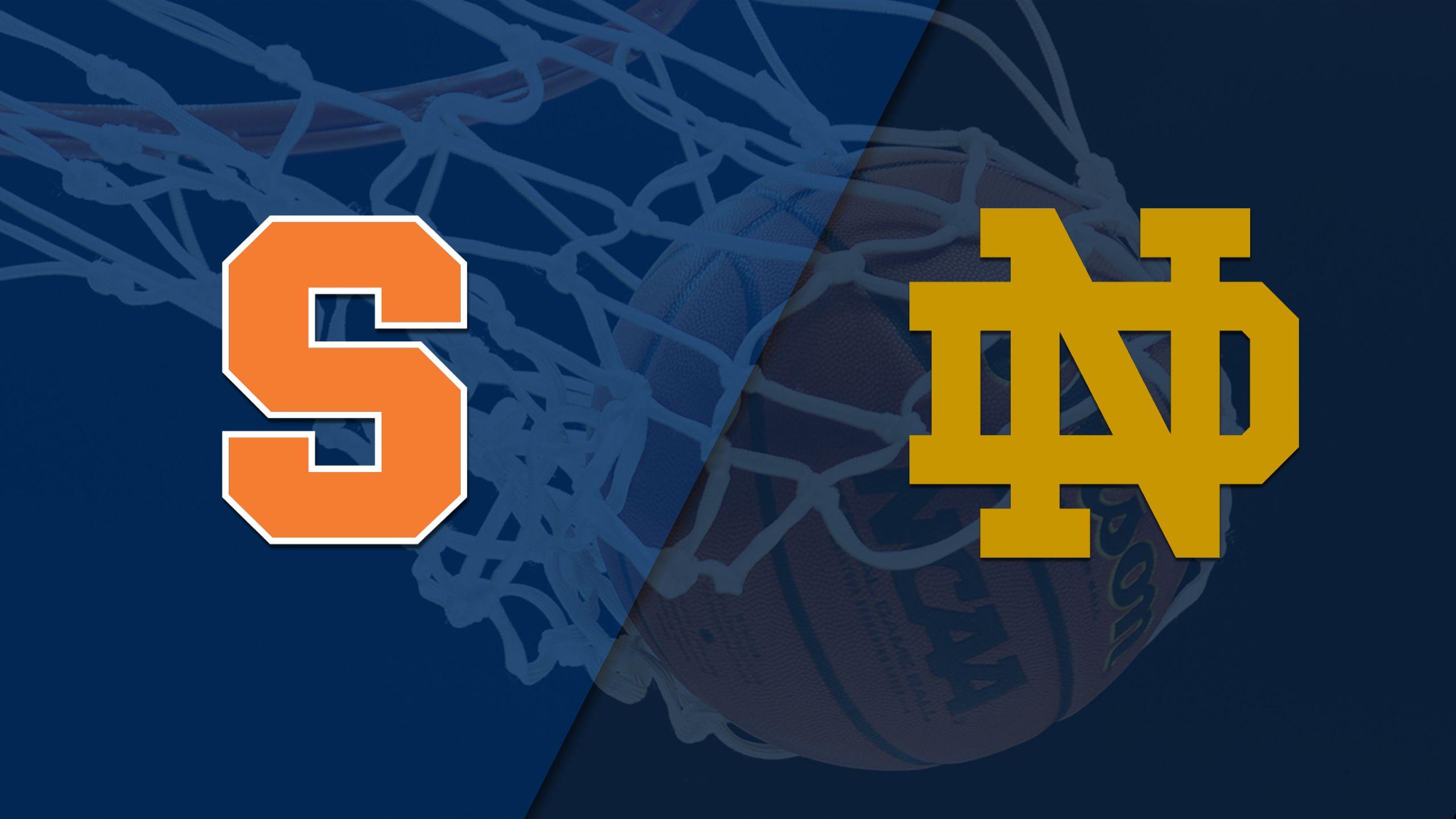 Syracuse vs. #2 Notre Dame (W Basketball)