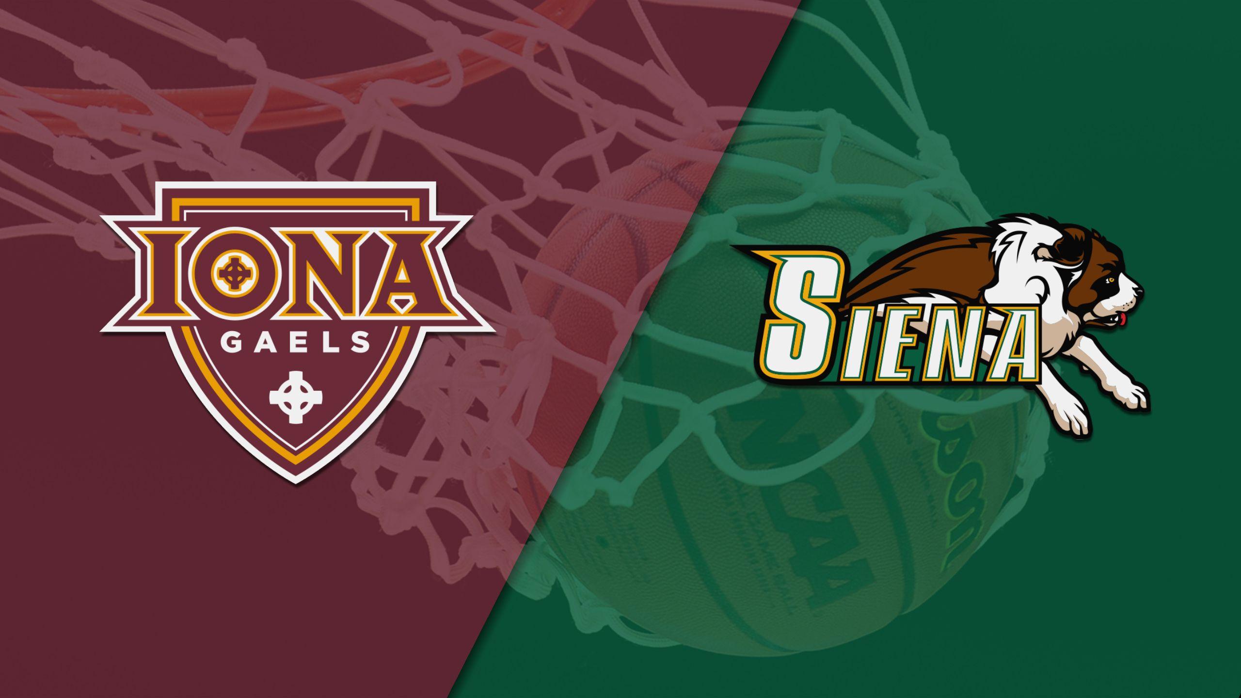 Iona vs. Siena (W Basketball)