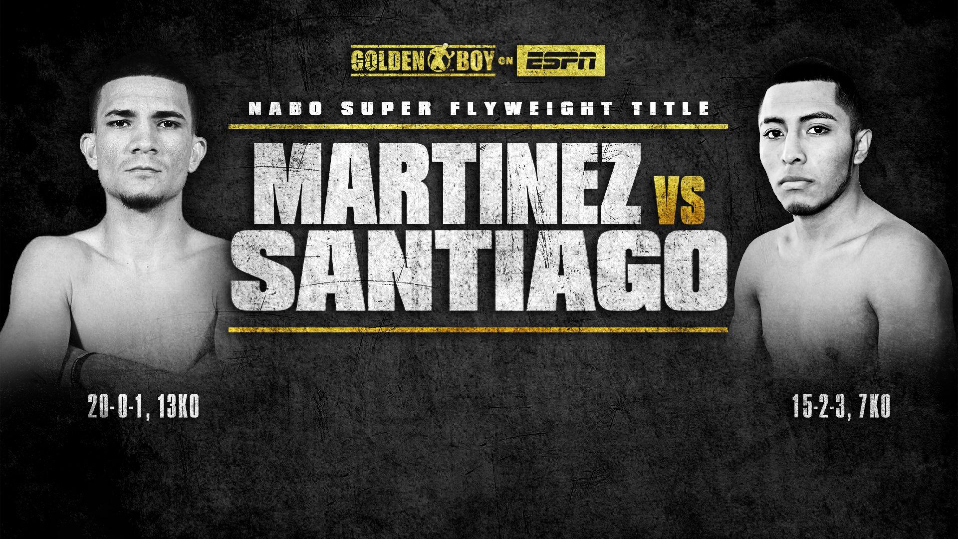 Jose Martinez vs. Alejandro Santiago