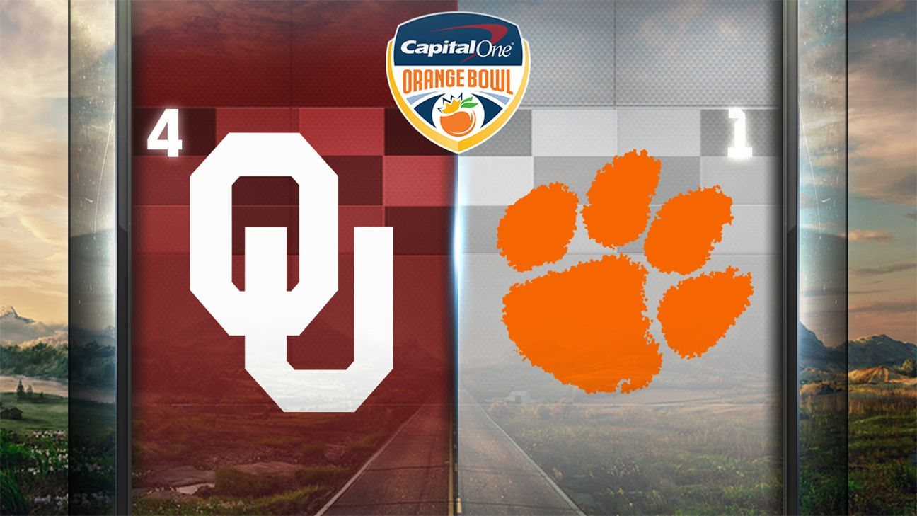 #4 Oklahoma vs. #1 Clemson (Semifinal #1) (Capital One Orange Bowl)