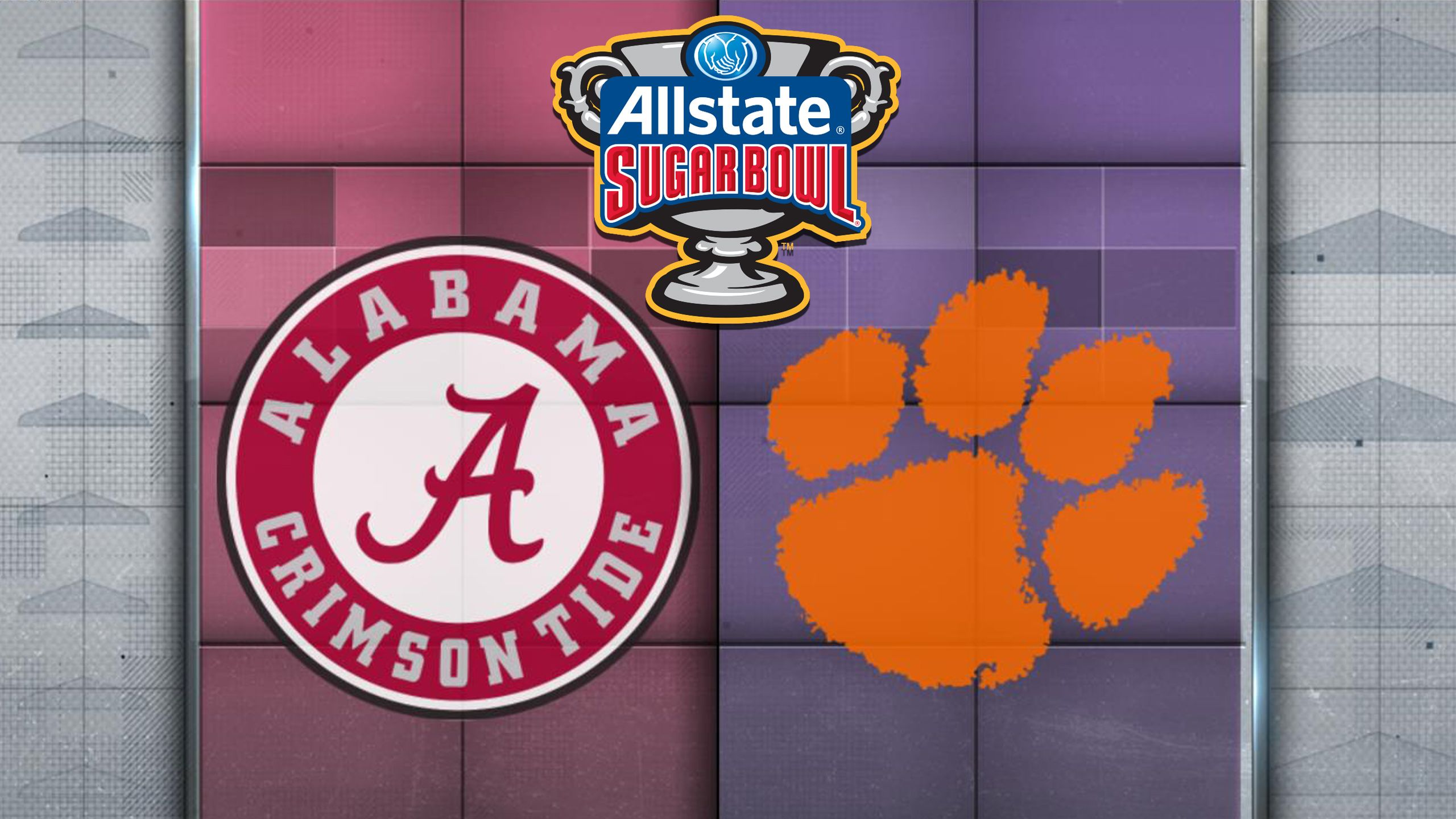 #4 Alabama vs. #1 Clemson (Semifinal) (Allstate Sugar Bowl) (re-air)