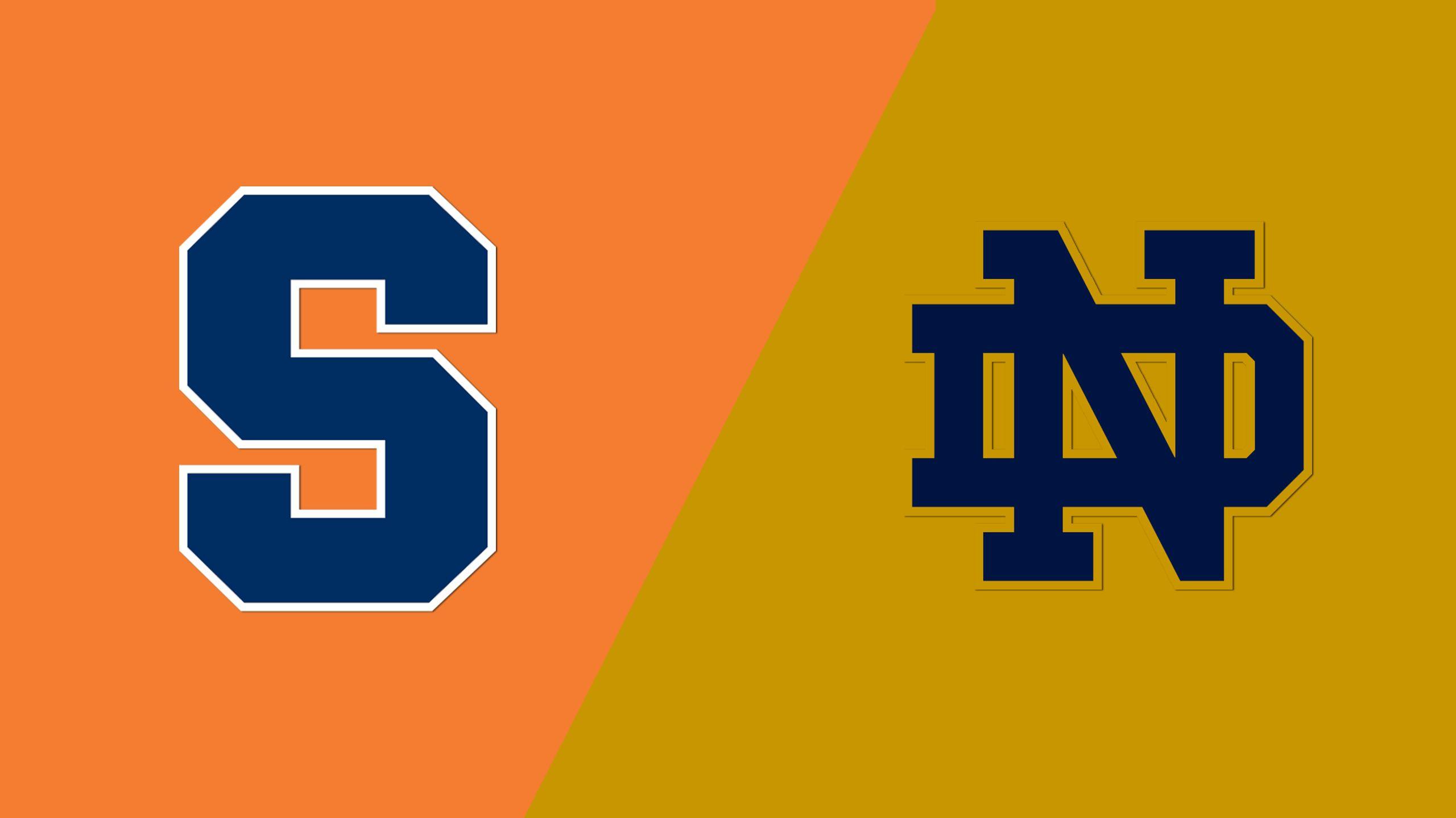 #9 Syracuse vs. Notre Dame (W Lacrosse)