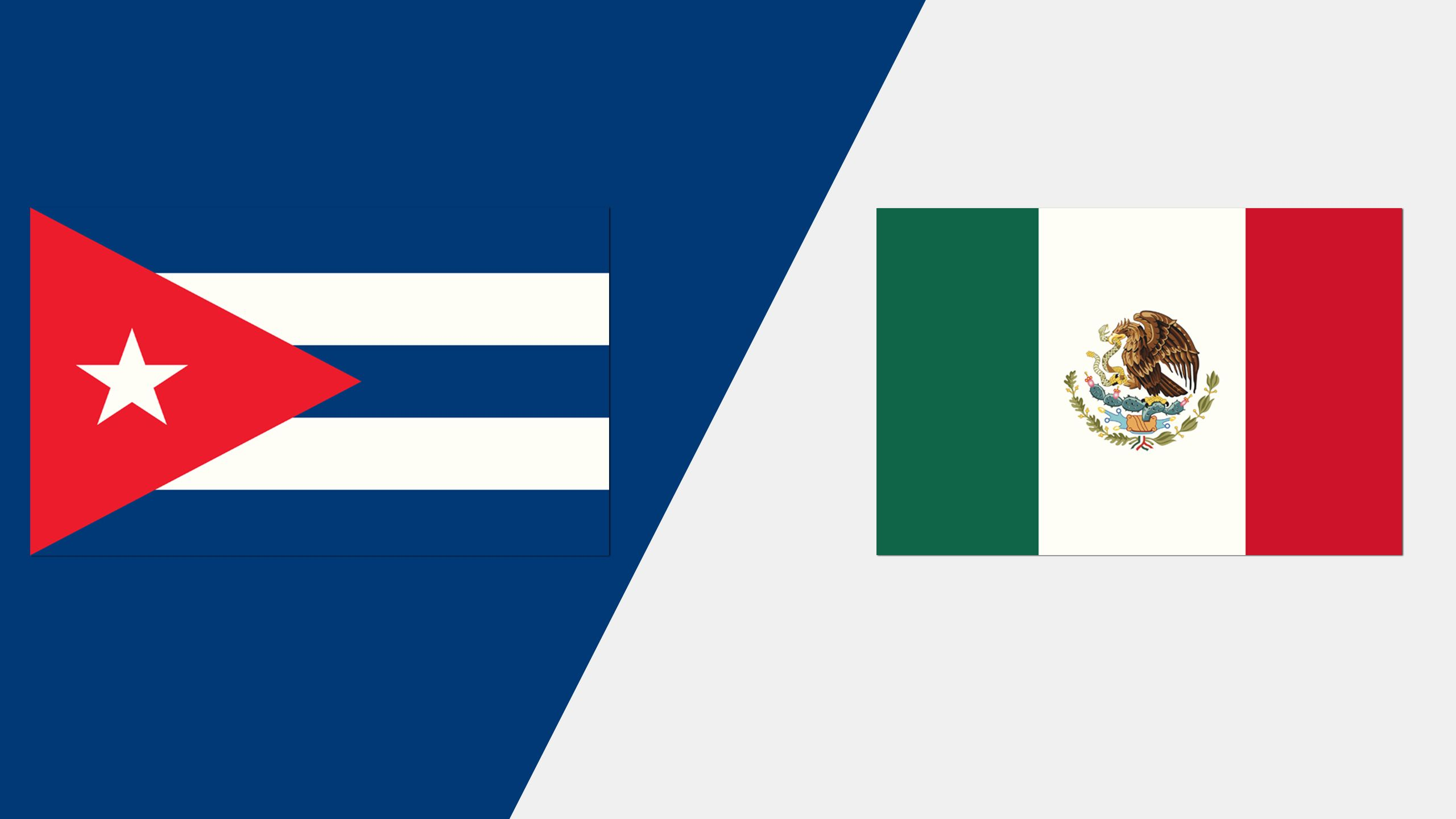 In Spanish - Cuba vs. México (Grupo A)