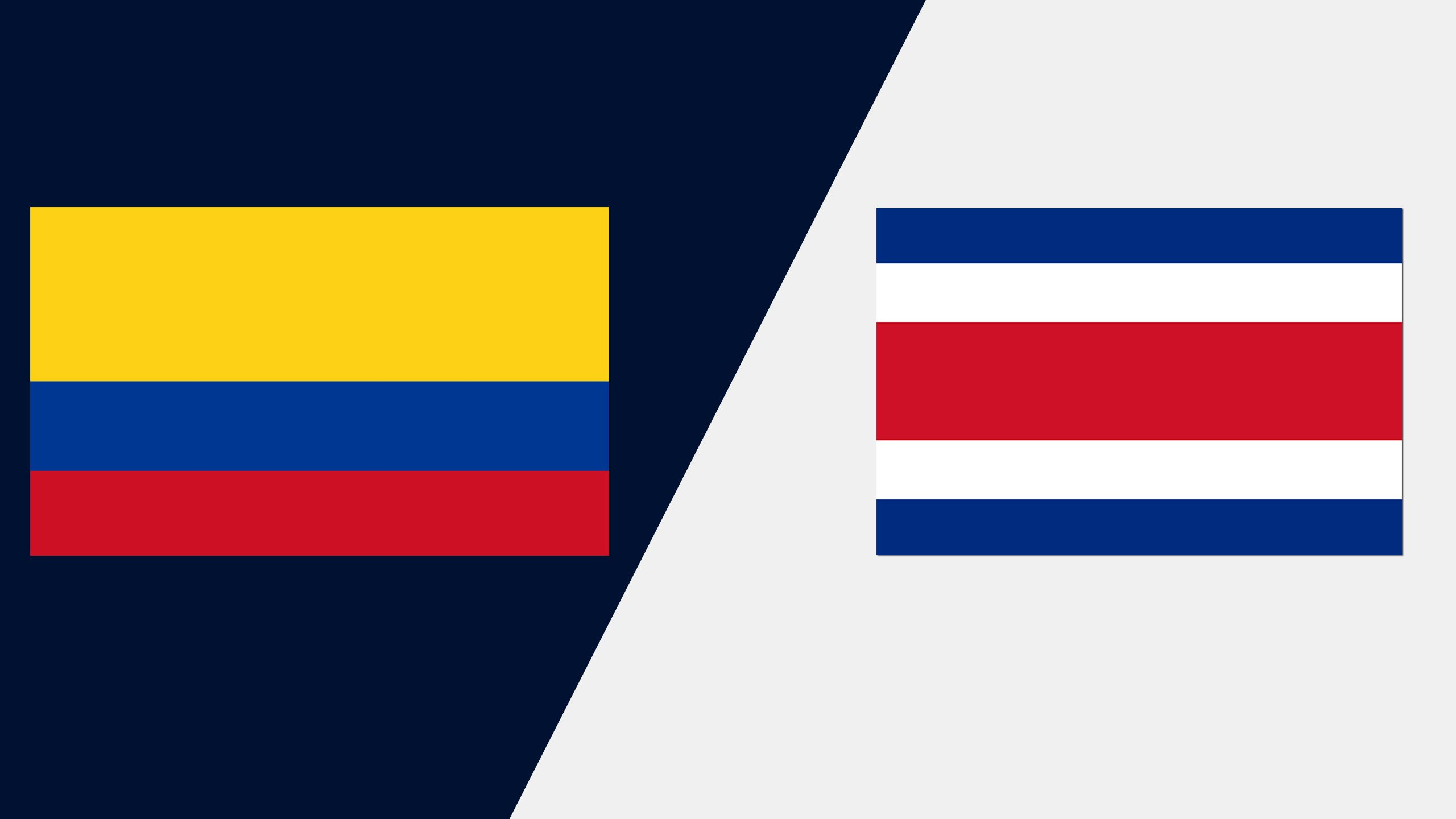 In Spanish - Colombia vs. Costa Rica (Grupo A)
