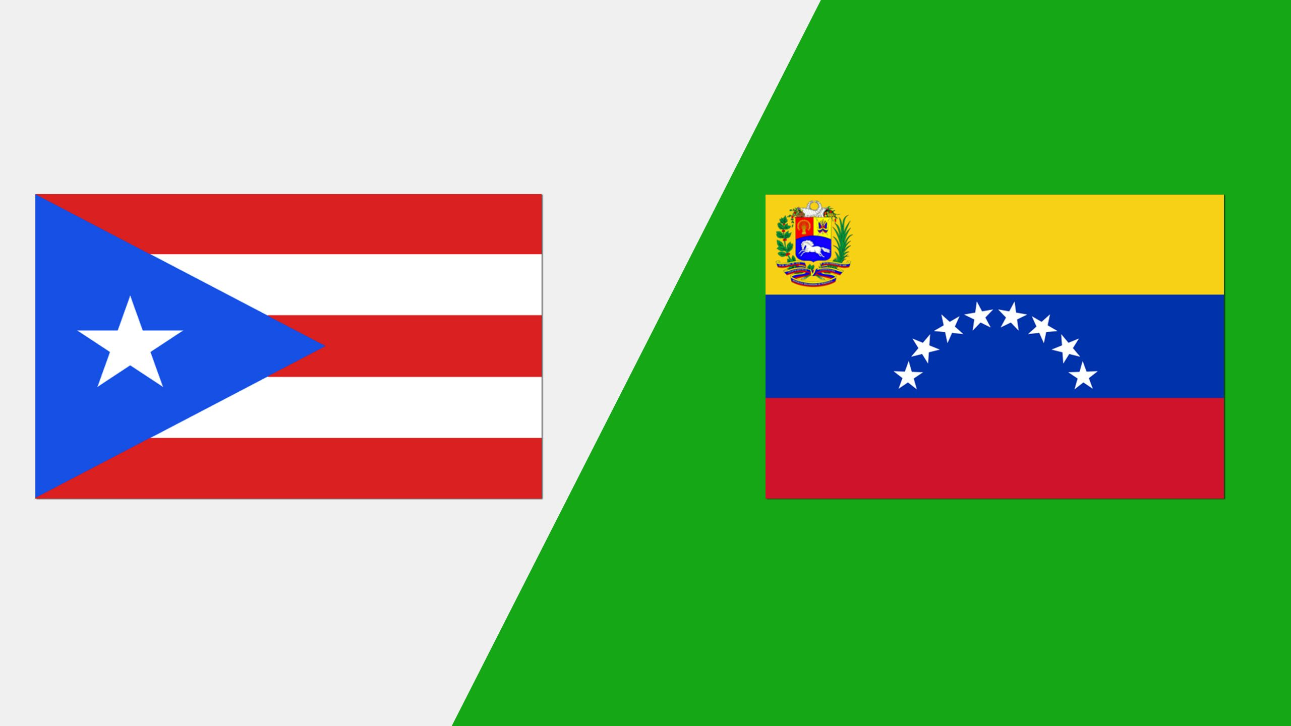 In Spanish - Puerto Rico vs. Venezuela (Grupo A)