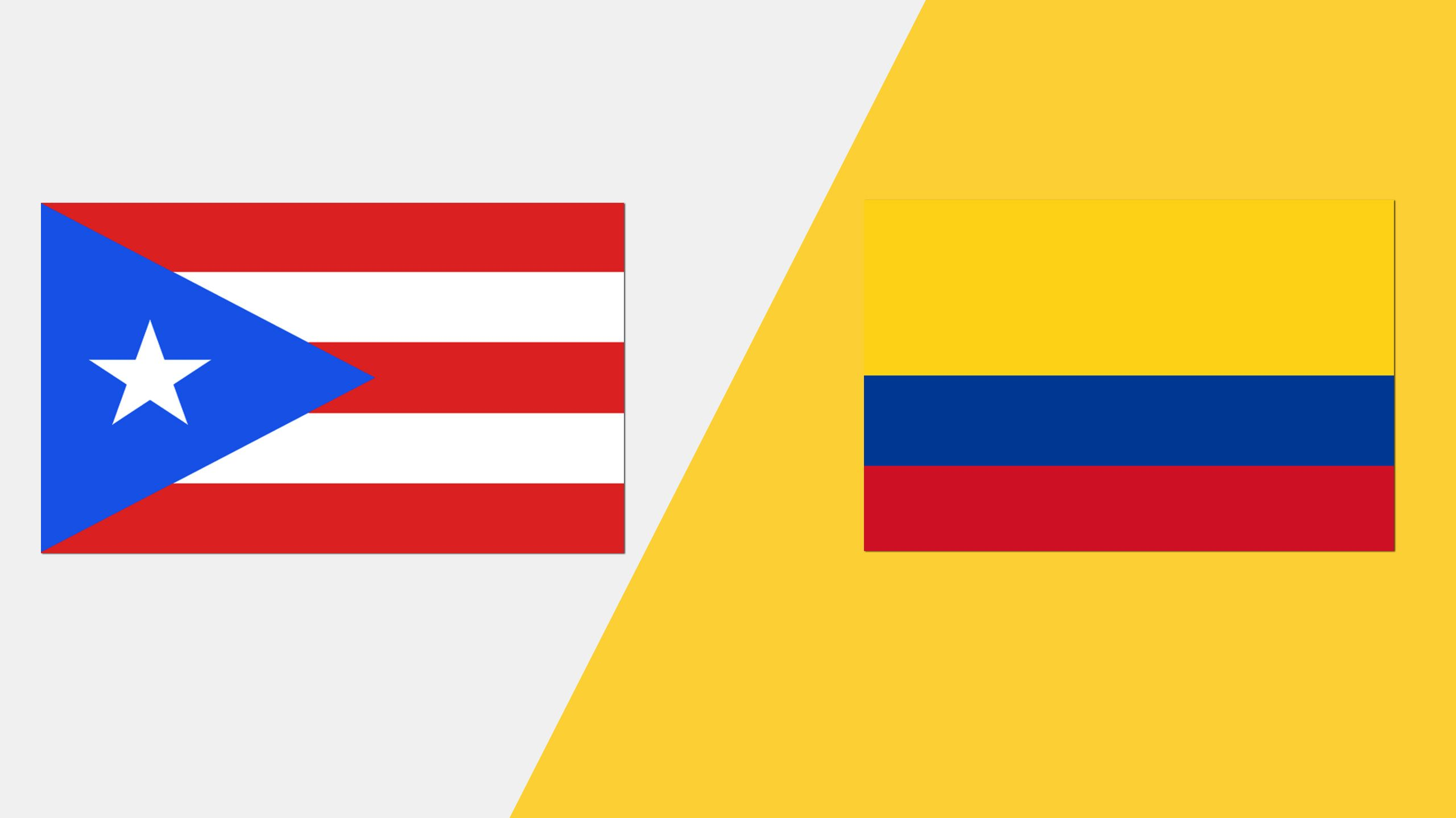 In Spanish - Puerto Rico vs. Colombia (Grupo A)