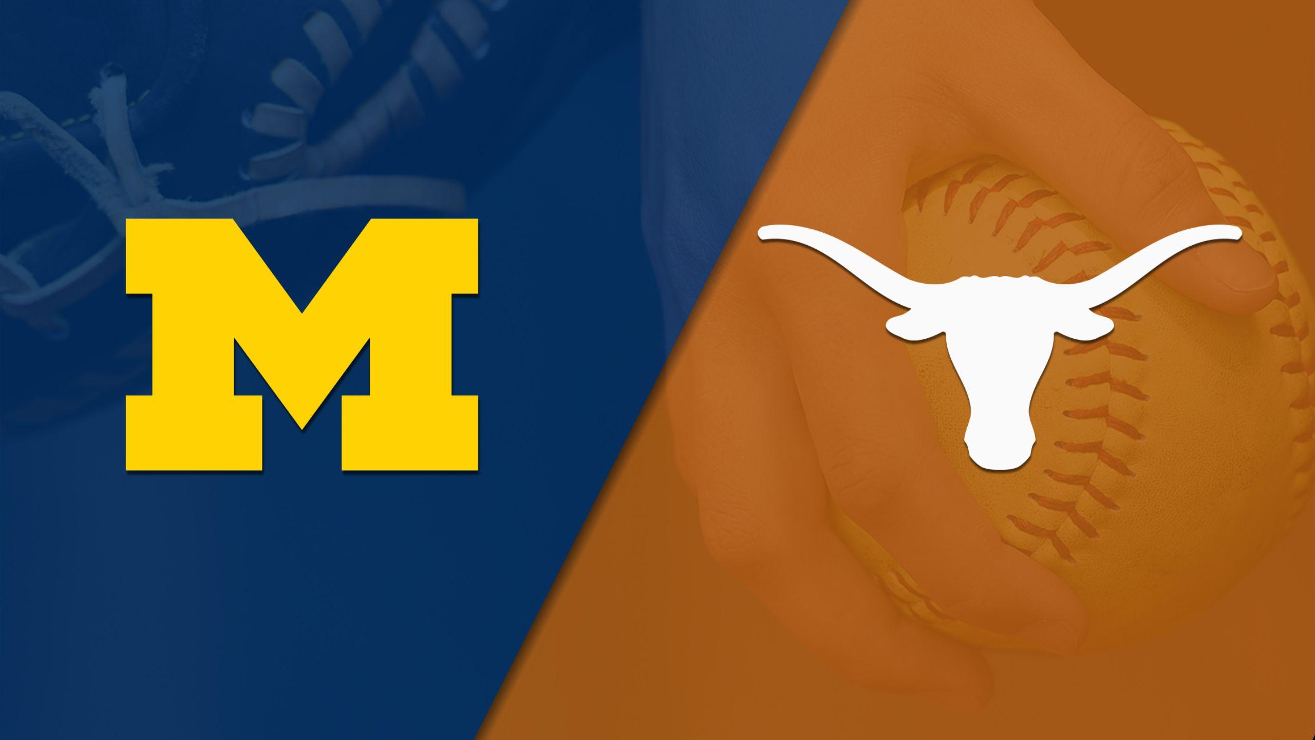 #20 Michigan vs. Texas (Softball) (re-air)