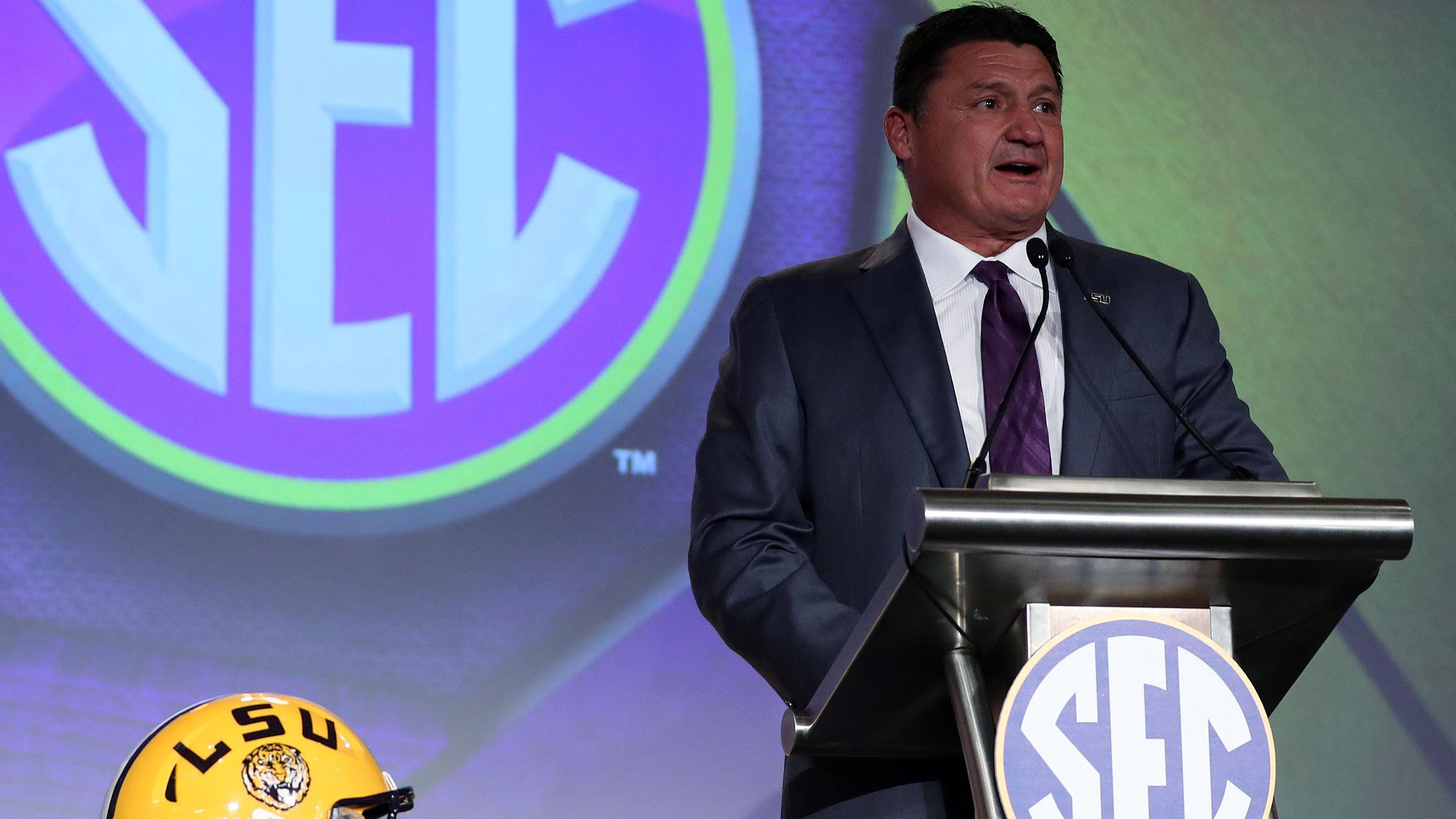 SEC Football Media Days - Ed Orgeron