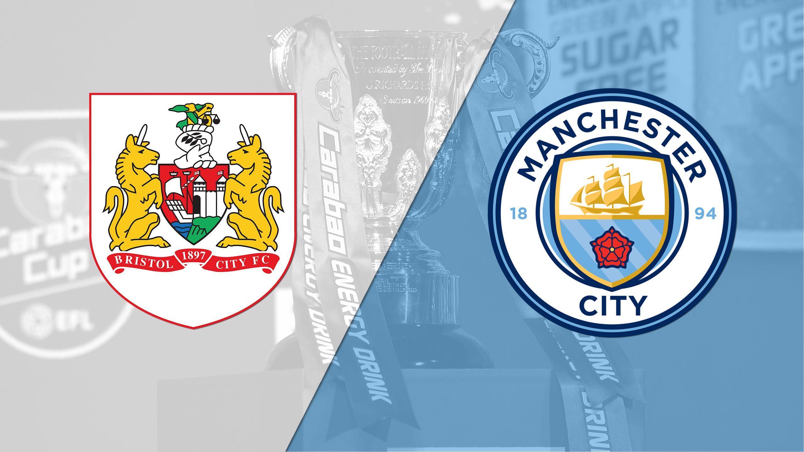 In Spanish - Bristol City vs. Manchester City (Carabo Cup)