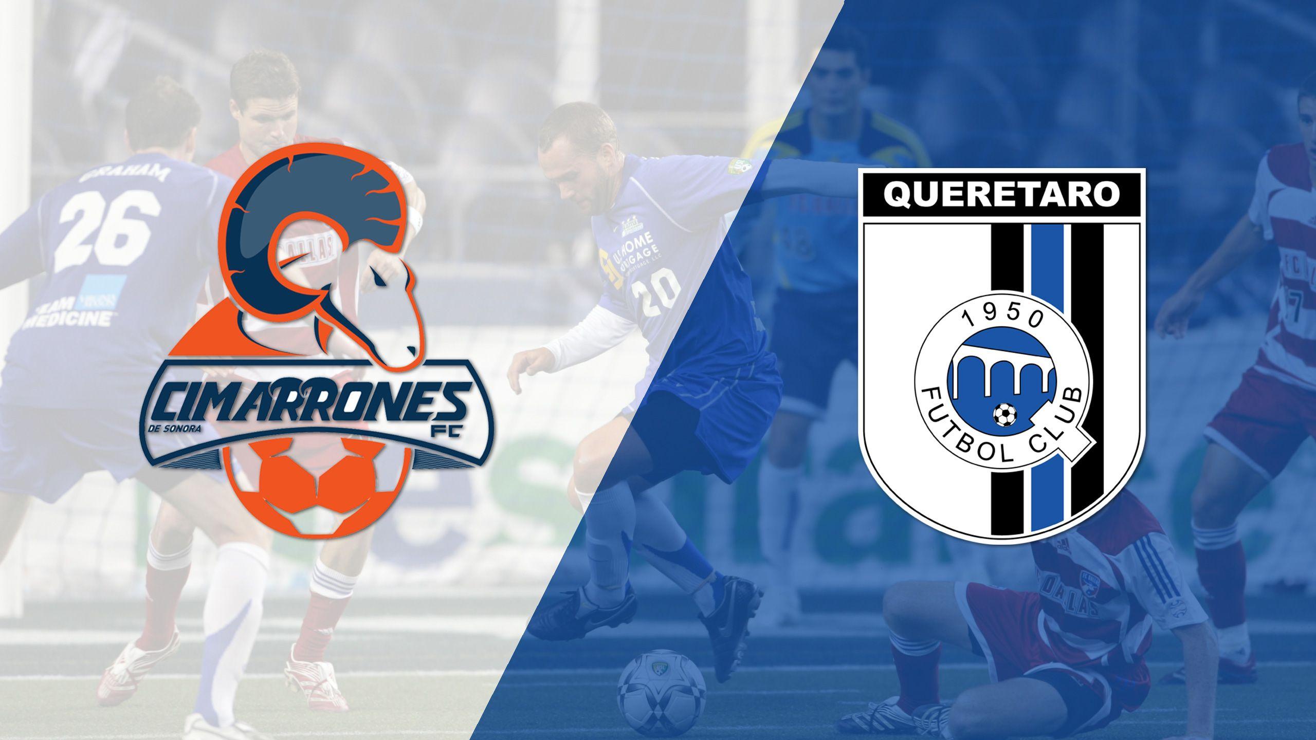 In Spanish - Cimarrones de Sonora vs. Gallos Blancos de Querétaro (Copa Mexico)