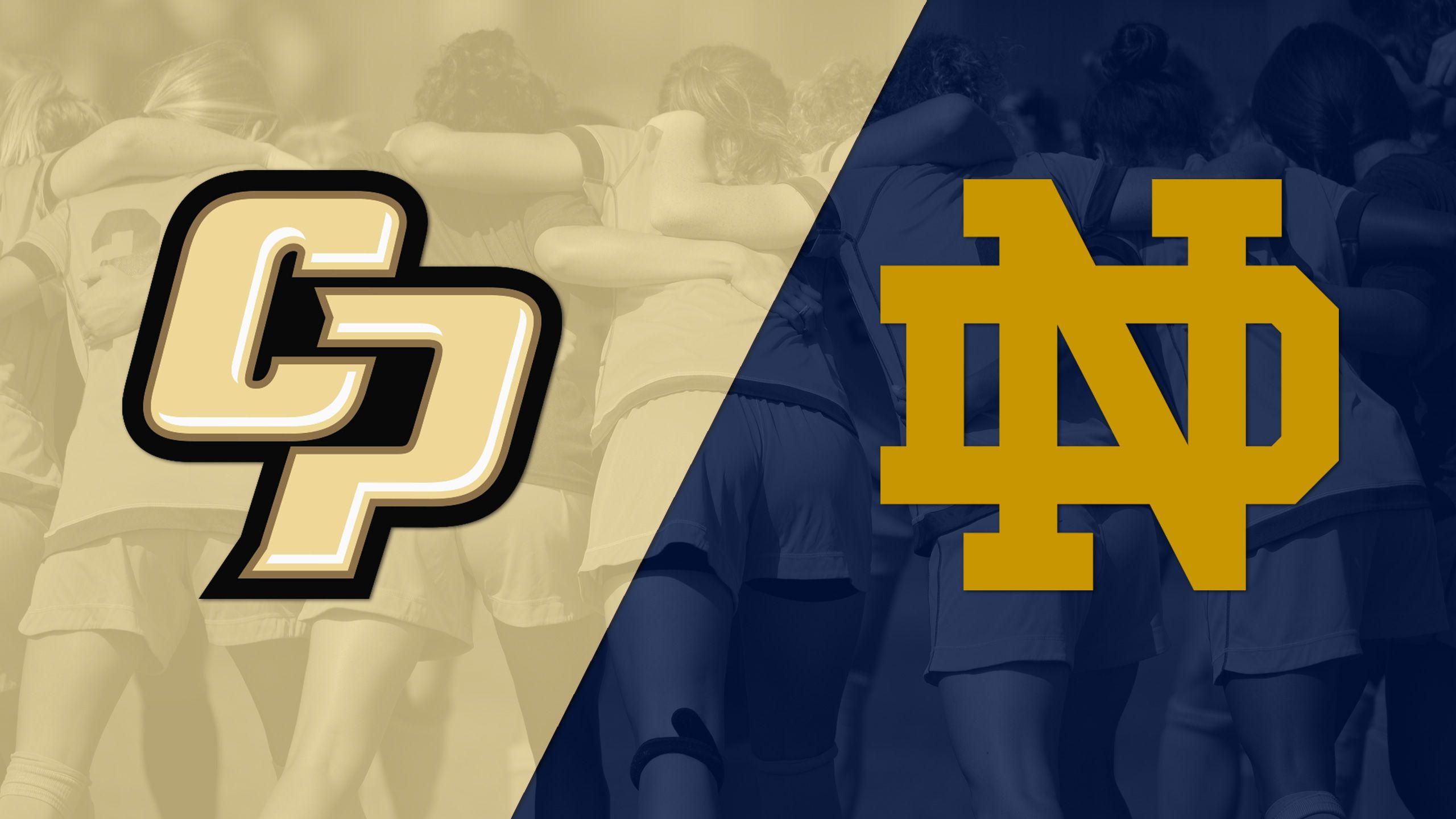 Cal Poly vs. #10 Notre Dame (M Soccer)