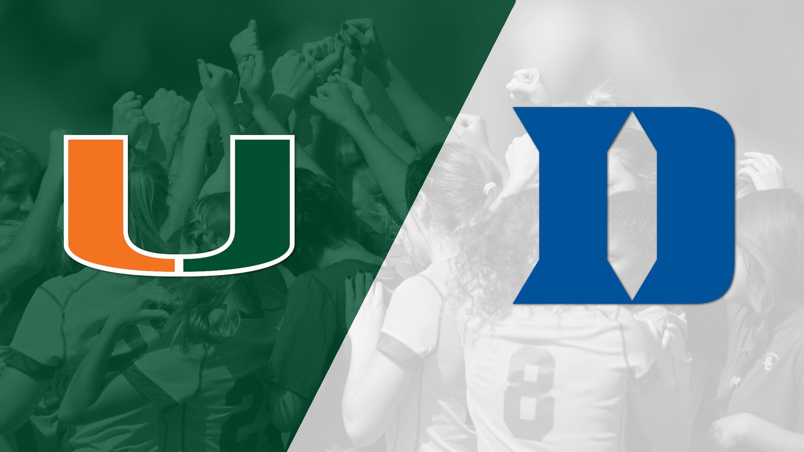 Miami vs. #4 Duke (W Soccer)
