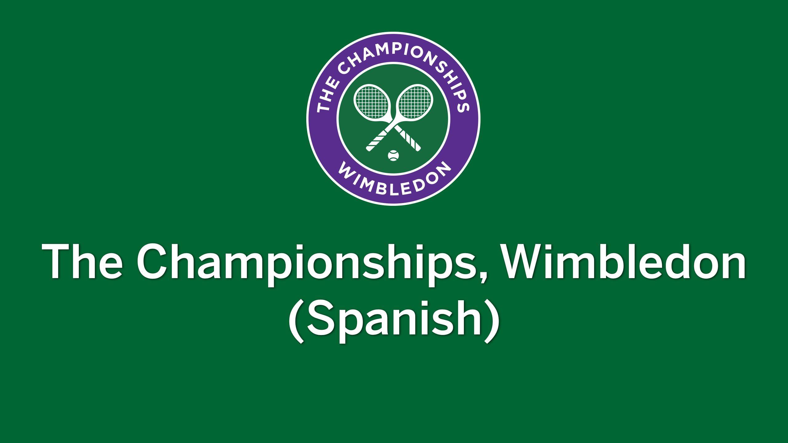 Wimbledon Tennis Championships - In Spanish (Gentlemen's Semifinals)