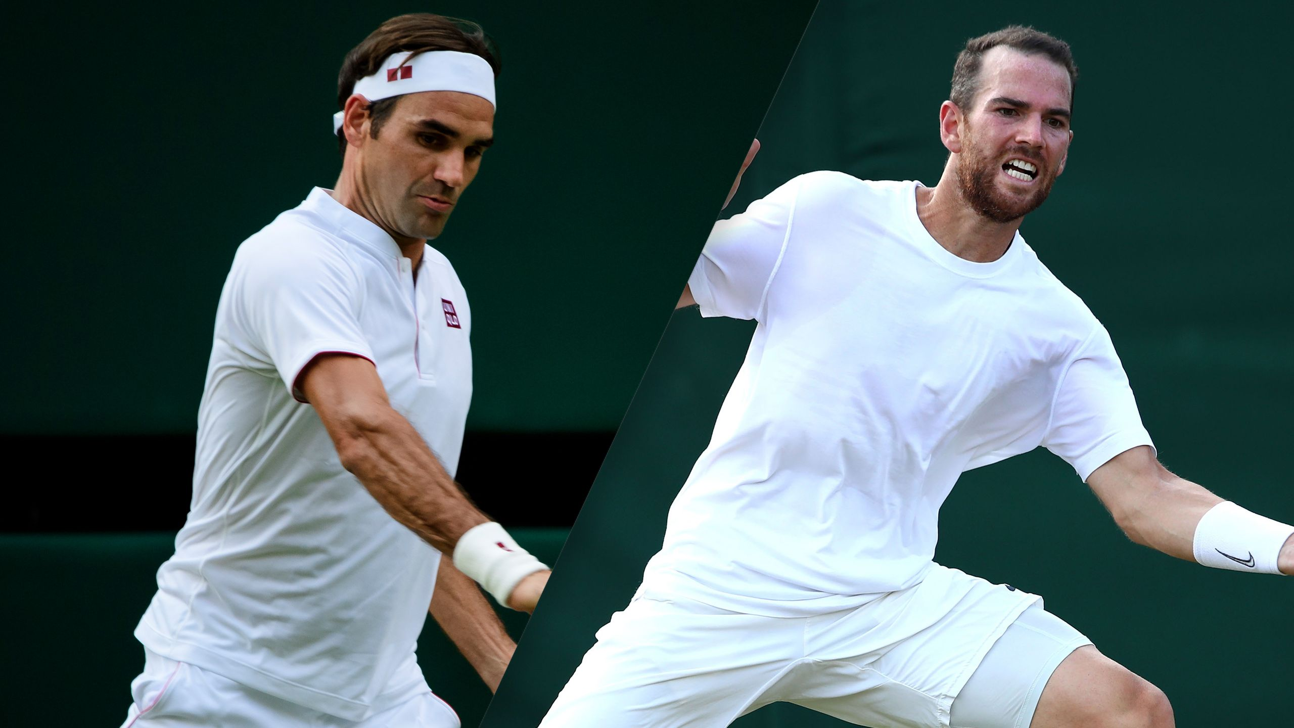 (1) Federer vs. (22) Mannarino (Gentlemen's Fourth Round)