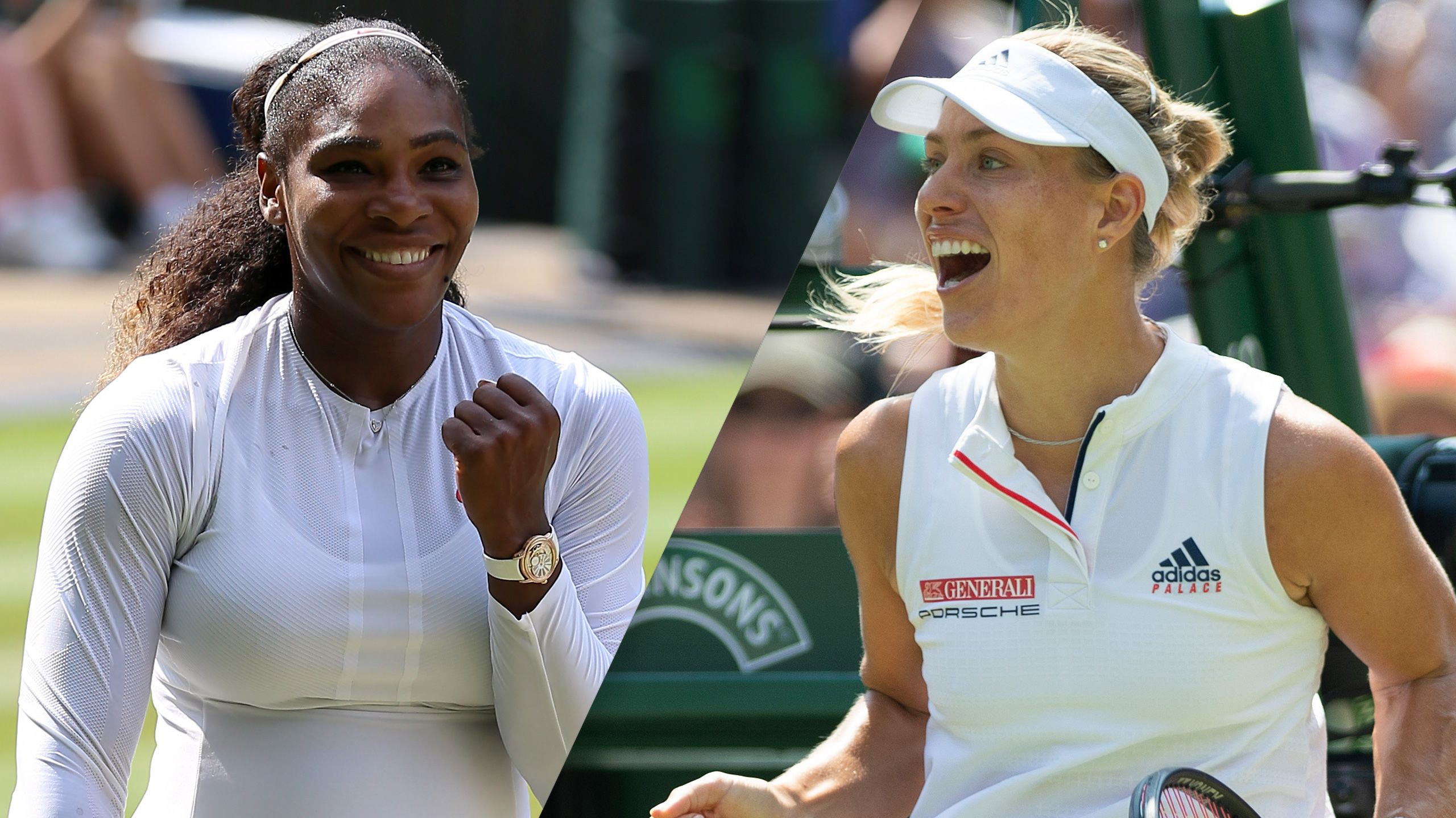 (25) S. Williams vs. (11) Kerber (Ladies' Final)