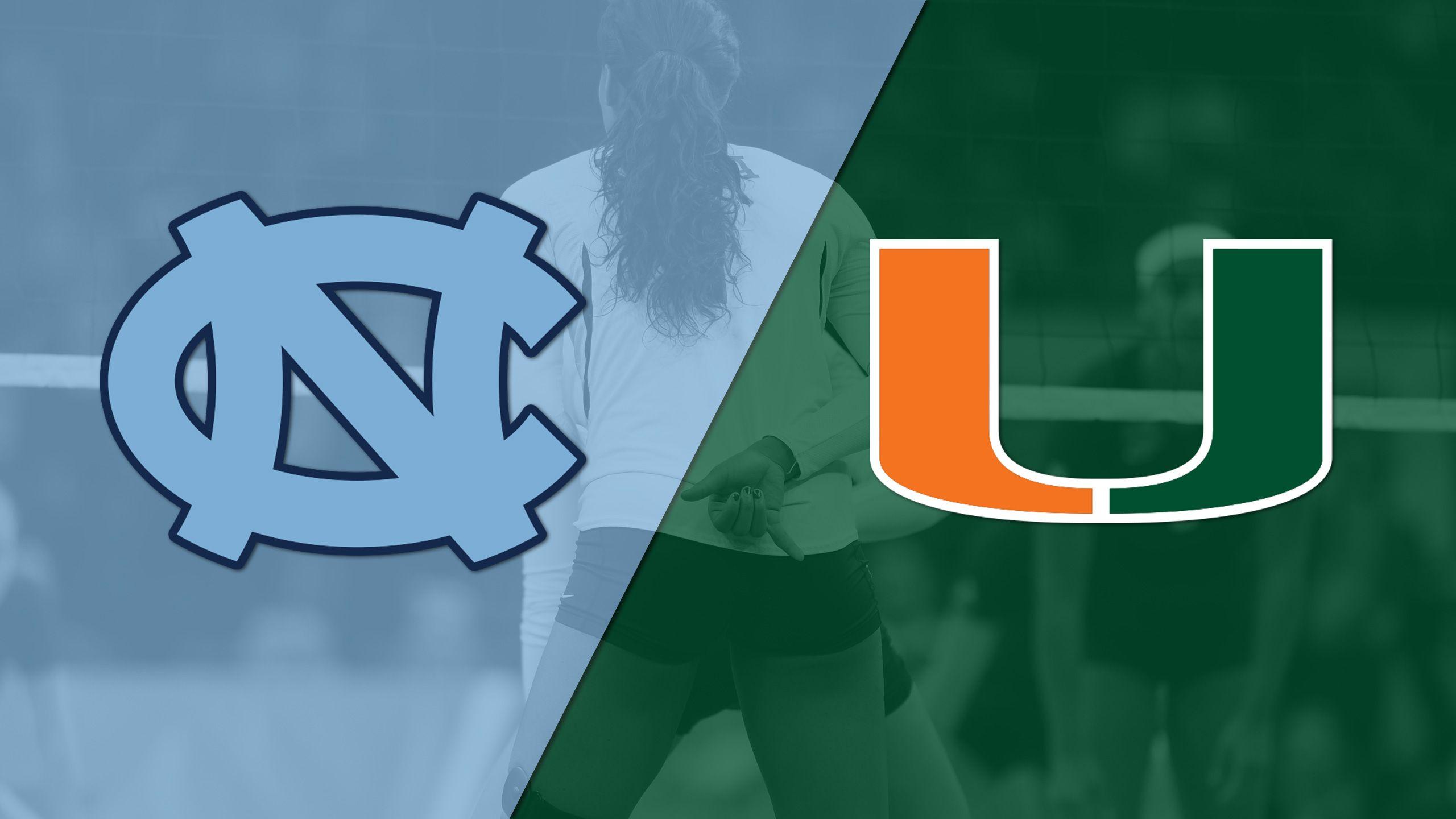 #12 North Carolina vs. Miami (W Volleyball)