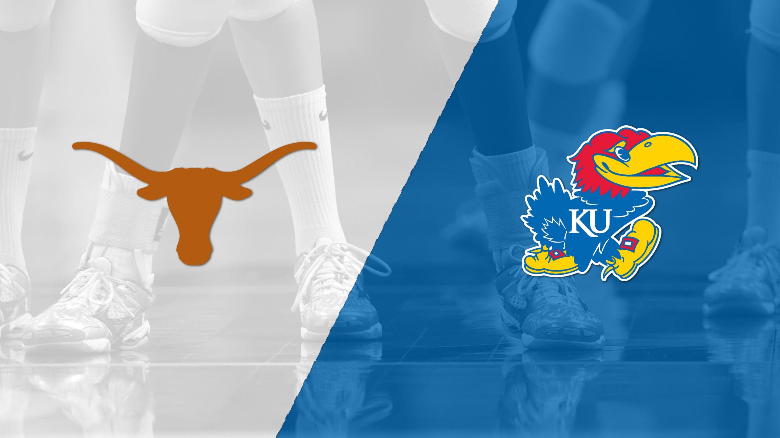 Texas vs. Kansas (W Volleyball) (re-air)