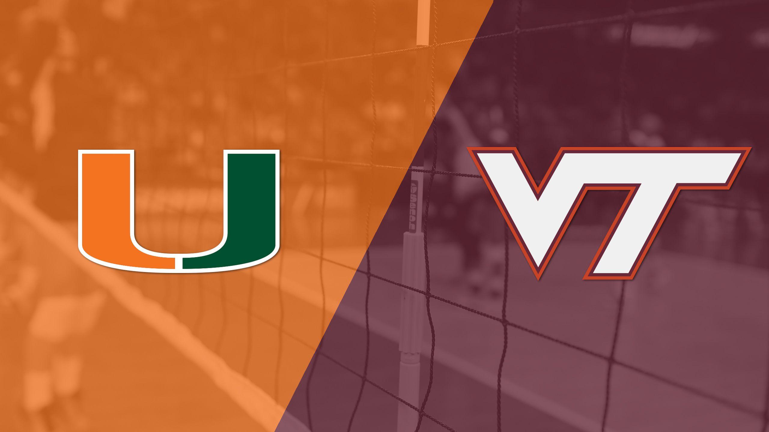 Miami vs. Virginia Tech (W Volleyball)