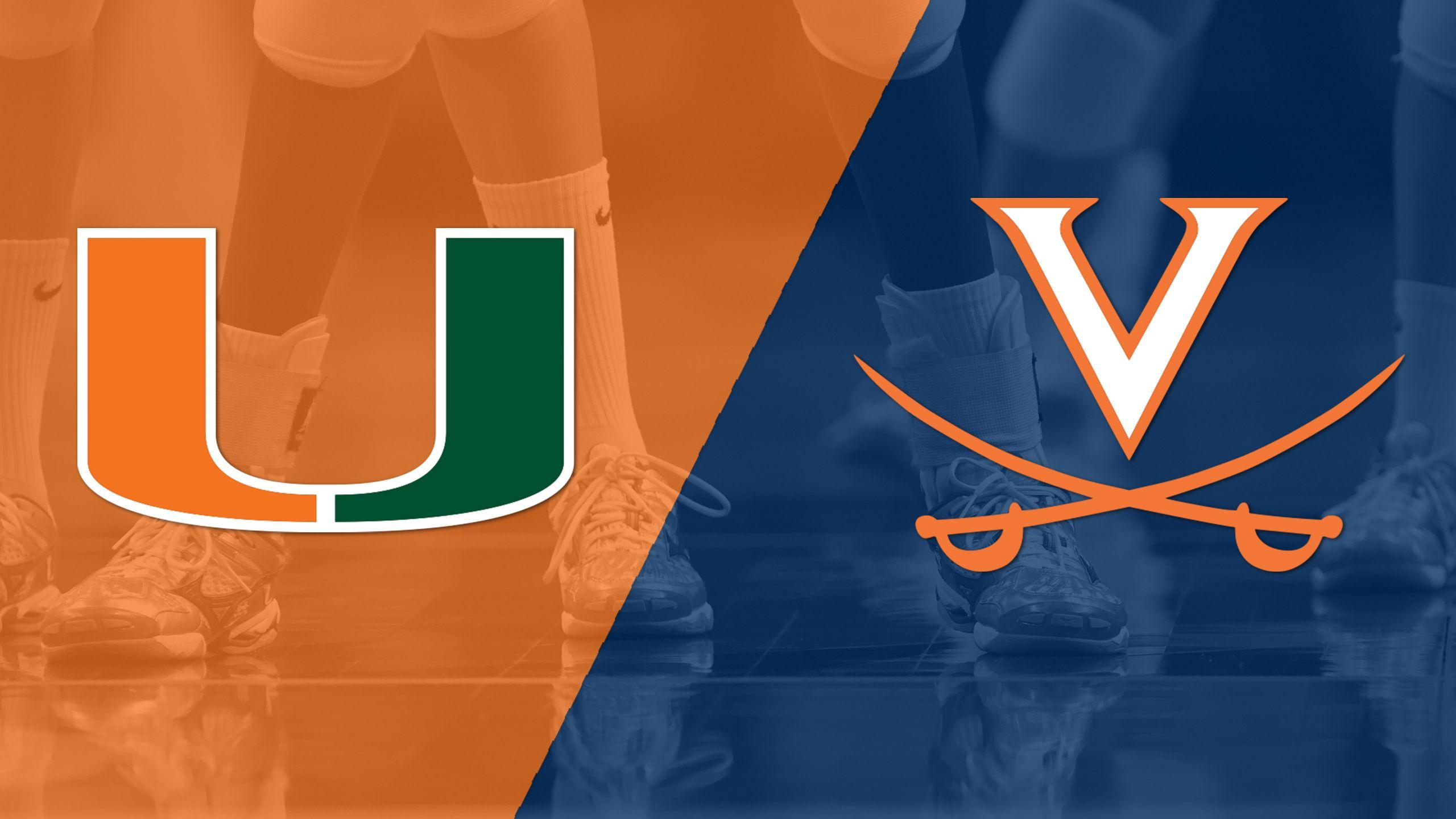 Miami vs. Virginia (W Volleyball)