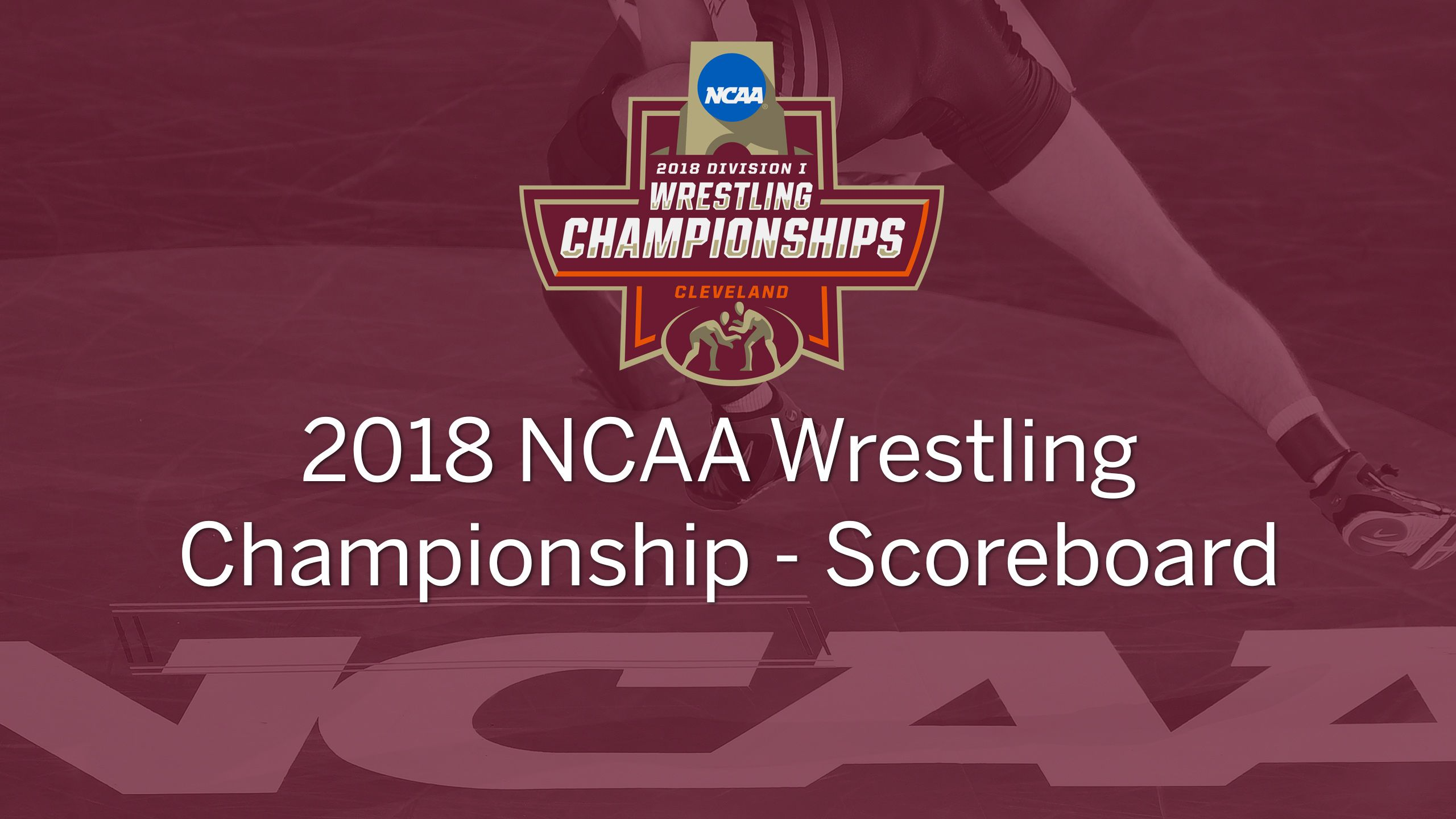 2018 NCAA Wrestling Championship Scoreboard