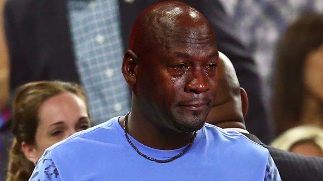 The Michael Jordan crying meme spares no one