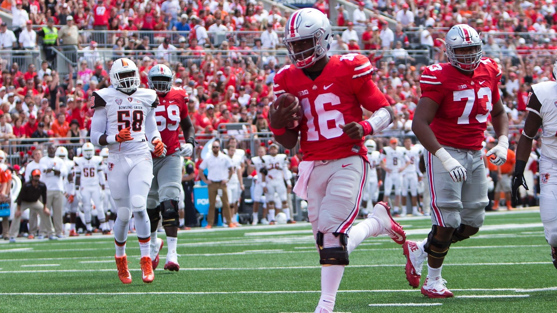 J.T. Barrett's seven touchdown day