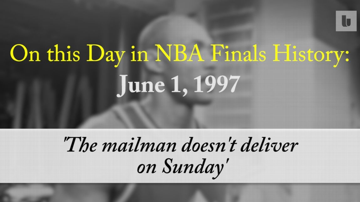 e2f18e67cb64 On this day in NBA Finals history   The Mailman doesn t deliver on Sunday