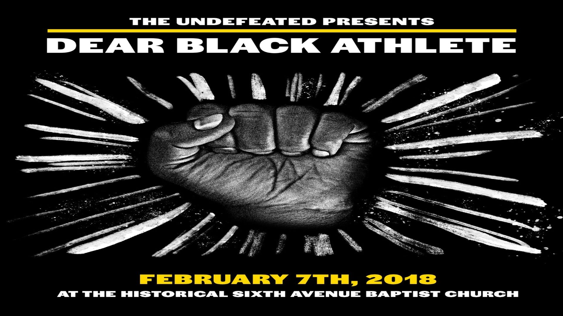 'Dear Black Athlete' examines issues of race and sports in this moment of protest