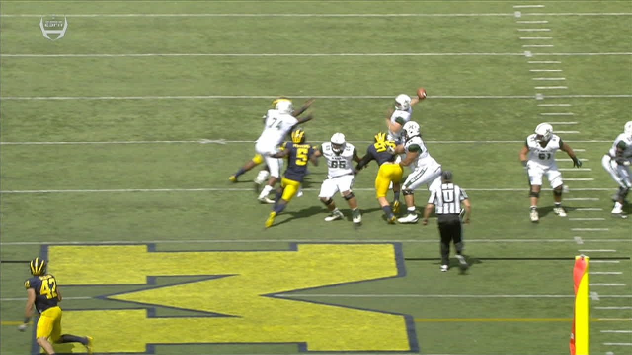 Michigan cashes in on second pick-six