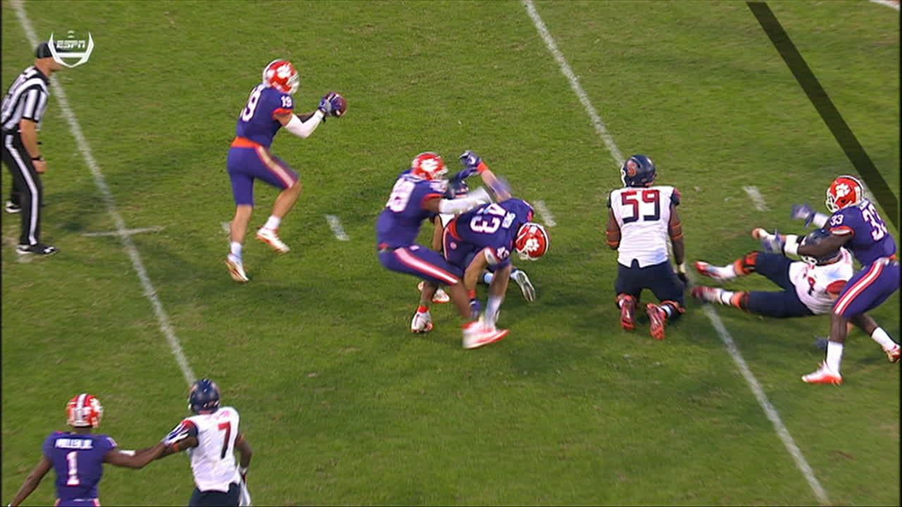 Crazy tipped pass turns into Clemson pick-six