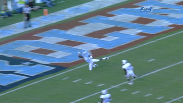 UNC WR Logan hauls in diving, one-handed TD grab