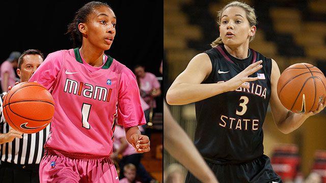 Miami (FL) vs. #23 Florida State (Quarterfinal #1 - Outermarket): ACC Women's Basketball Tournament
