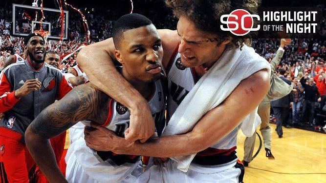 Lillard Sends Blazers To Second Round