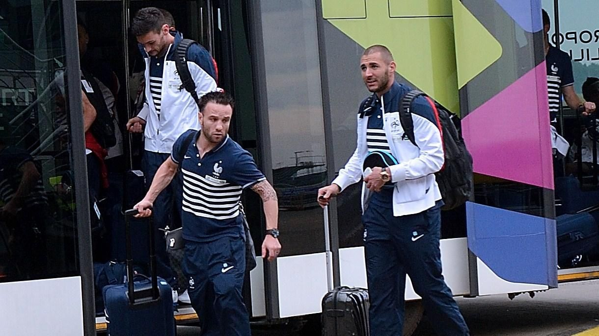 Les Bleus depart for Brazil