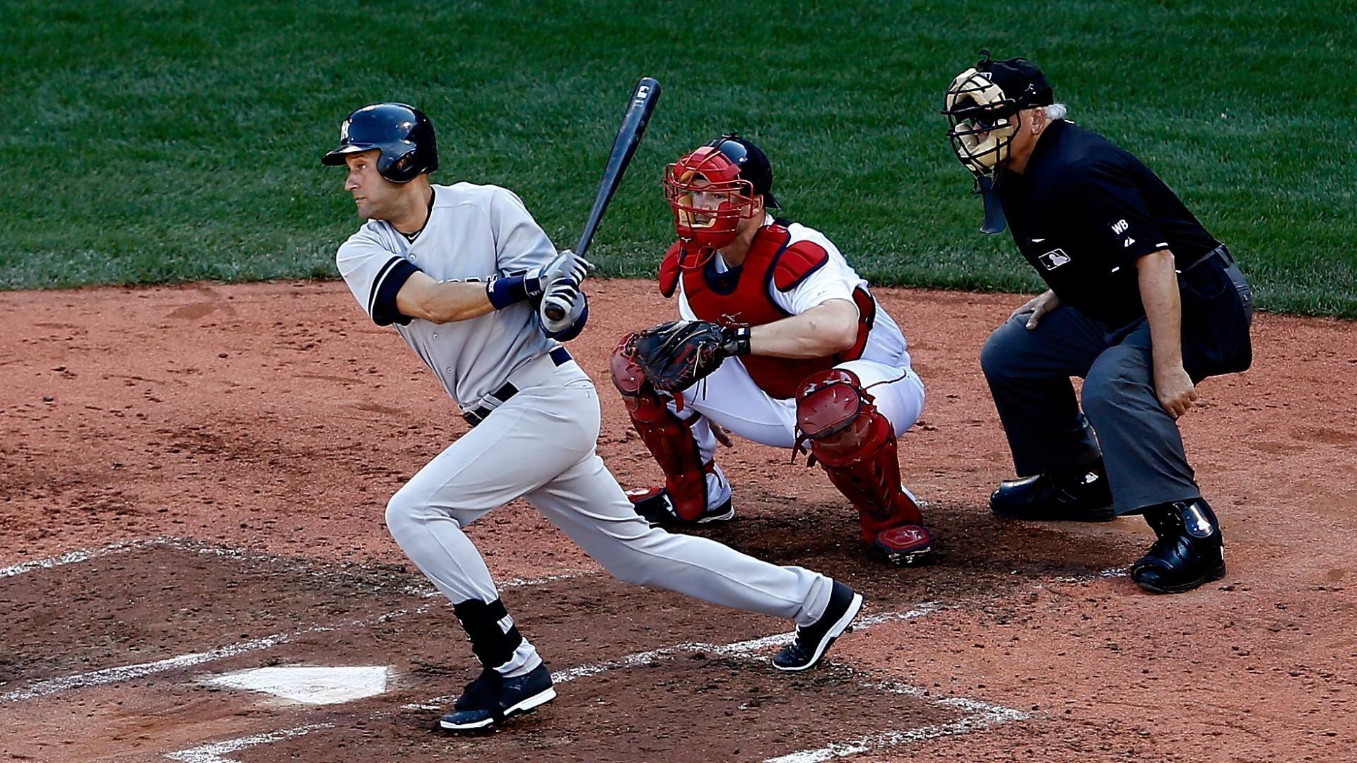 Jeter Hits RBI Single In Final At-Bat