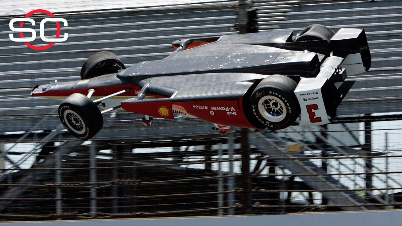 Castroneves OK after scary crash in practice